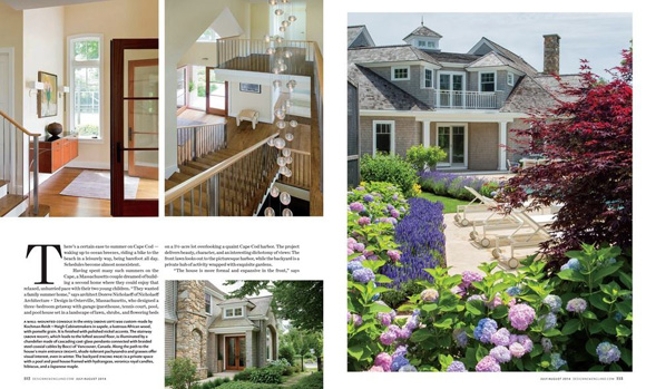"The console (upper left) in ""best of both views"" in the current issue of  Design New England ."