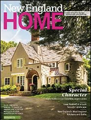 New England Home's cover gives us a view of an enchanting home where KR+H's work resides.