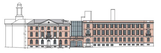 An elevation of North Bennet Street School by Kennedy Violich Architects.