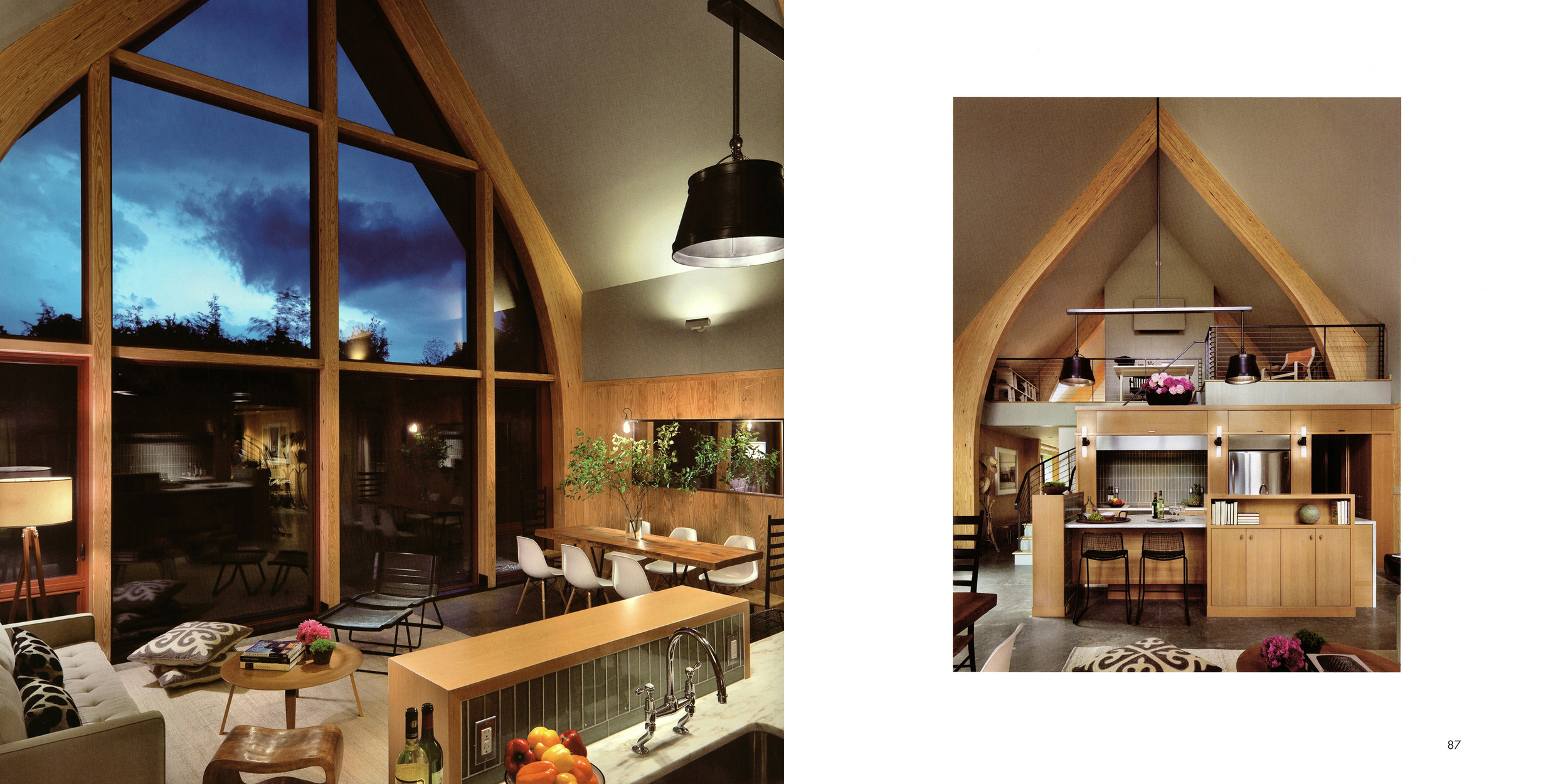 Paul worked with Dennis Wedlick on the design of the kitchen which is a centerpoint to the home.