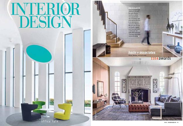 Hacin + Associates IIDA Award winning Tudor House featured in   Interior Design Magazine  .