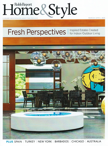 The front cover of  Rob Report Home & Style,  featuring this home. To explore the story with lots of stunning photos, click here.