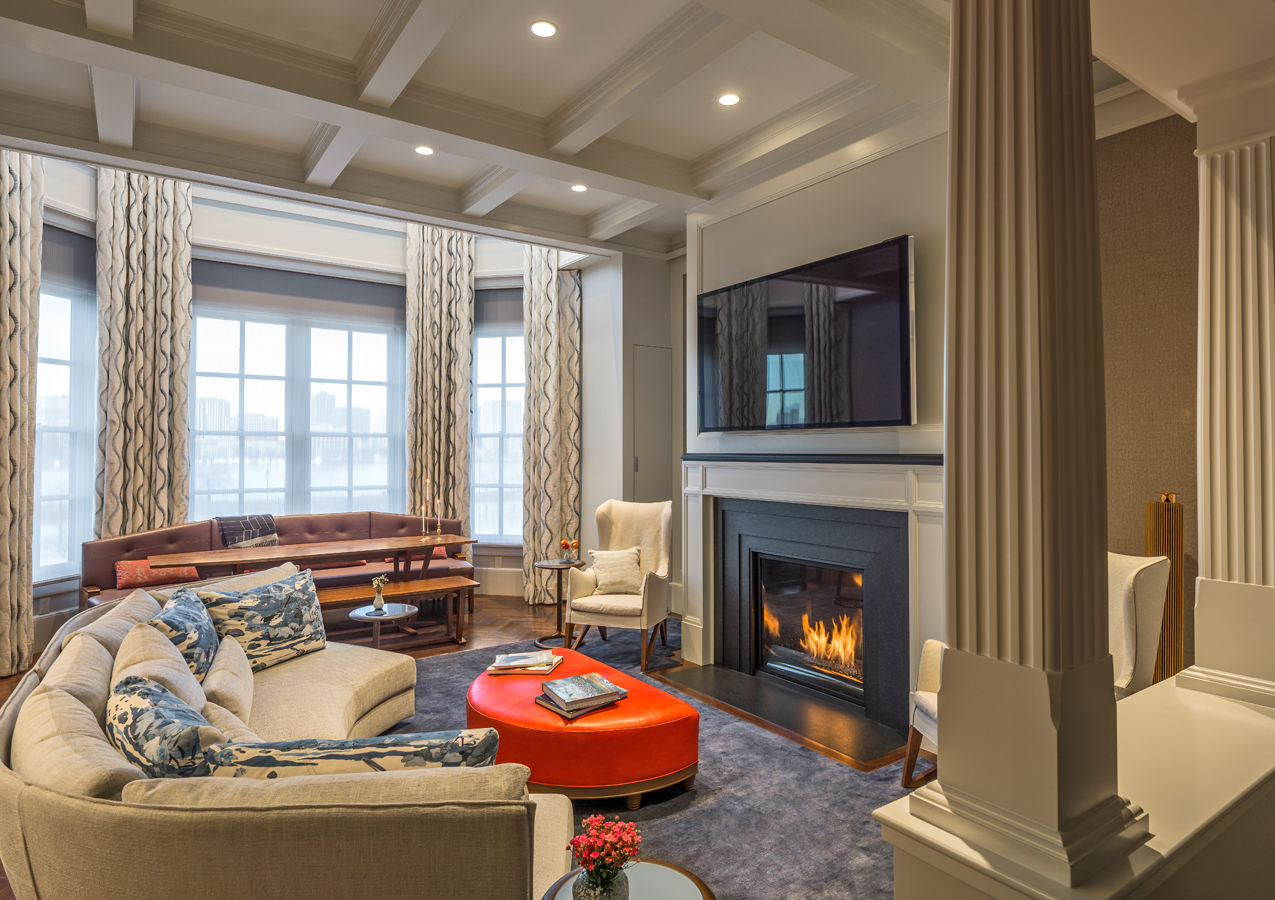 Beacon Street Living Room Millwork