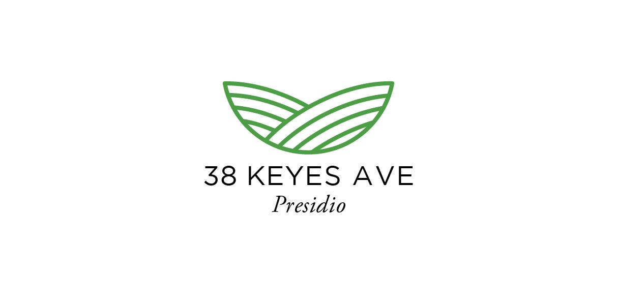 Logo designed for an office building located in the Presidio park in San Francisco.