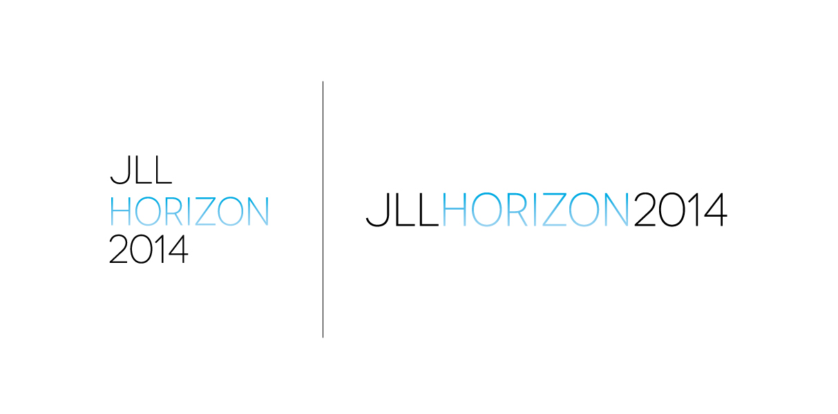"After a brand study I renamed the event ""Horizon"" which all of the JLL markets have now adapted. The logo was designed specific for the Jones Lang LaSalle investor and user client event in San Francisco."