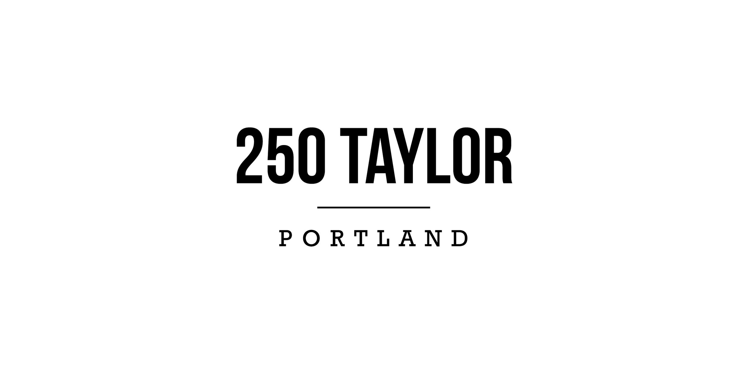 Logo designed for a modern, multi-use office building in Portland that is targeting creative companies.