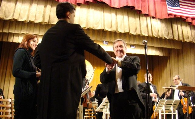 Gordon J. Johnson with the National Philharmonic of Moldova, February 2006