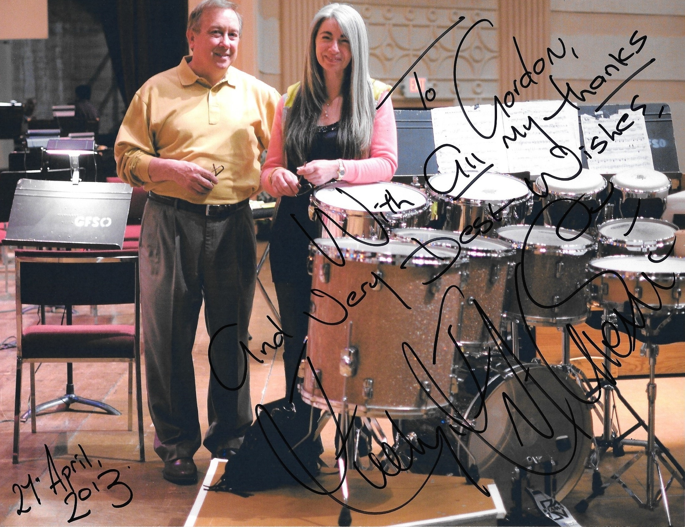 With Evelyn Glennie, percussionist
