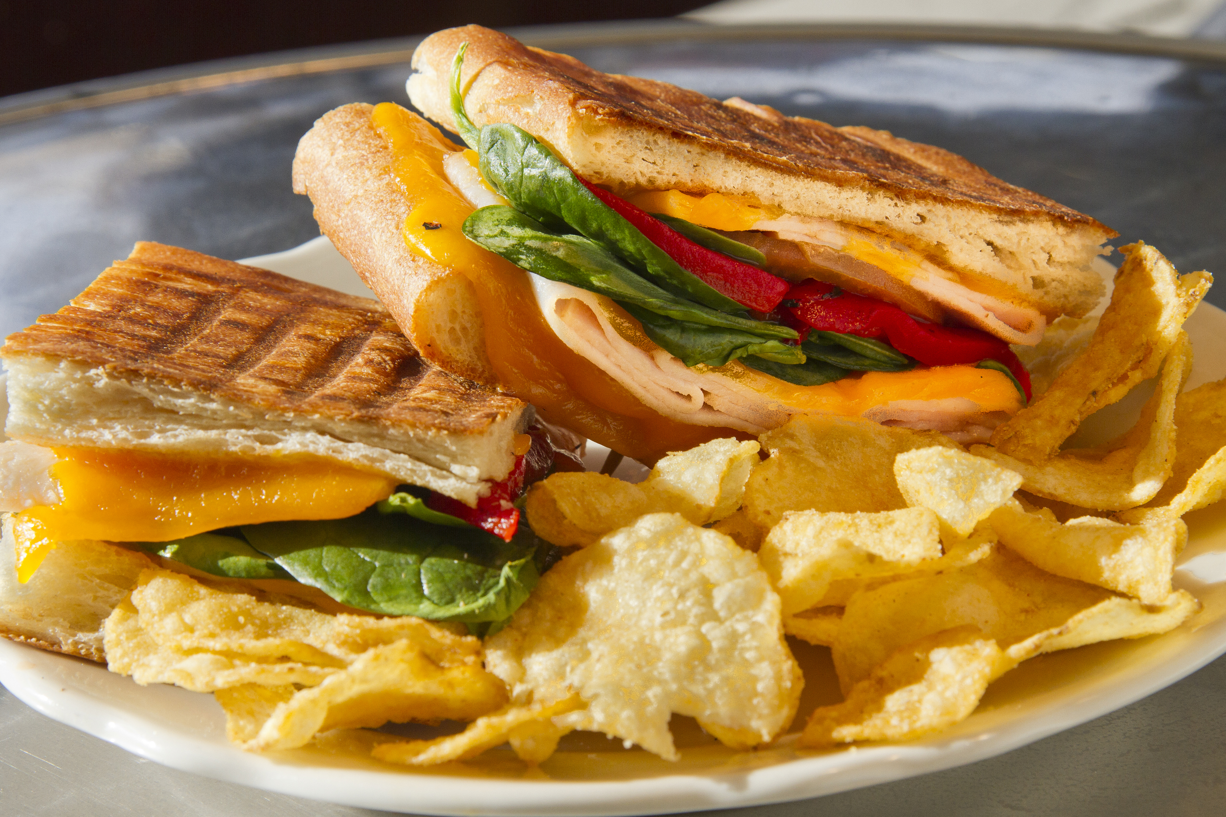 House-made panini sandwiches