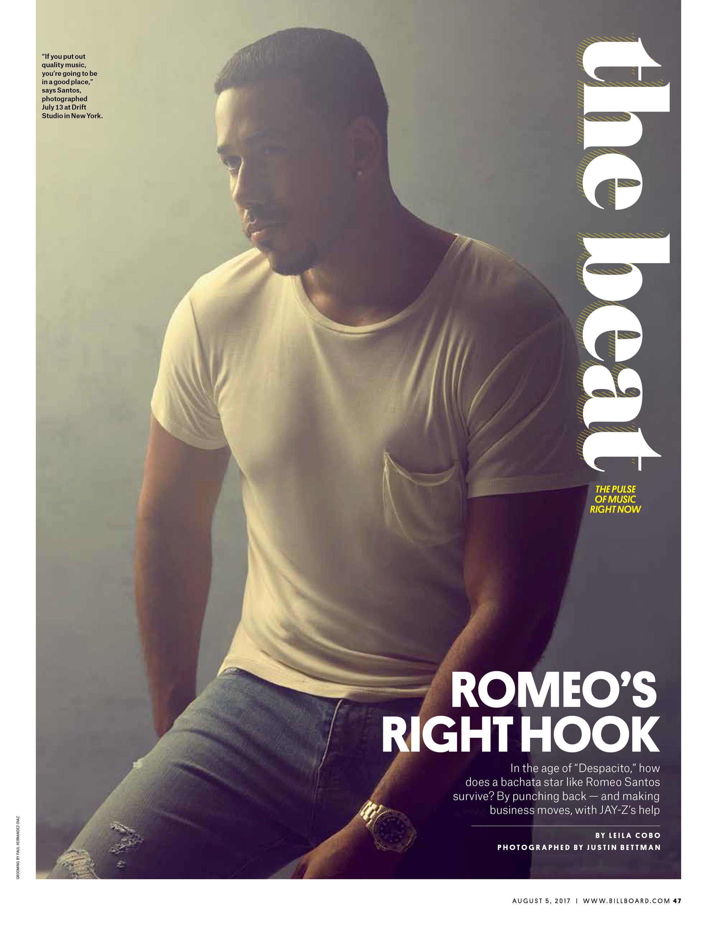 Romeo Santos for Billboard Magazine