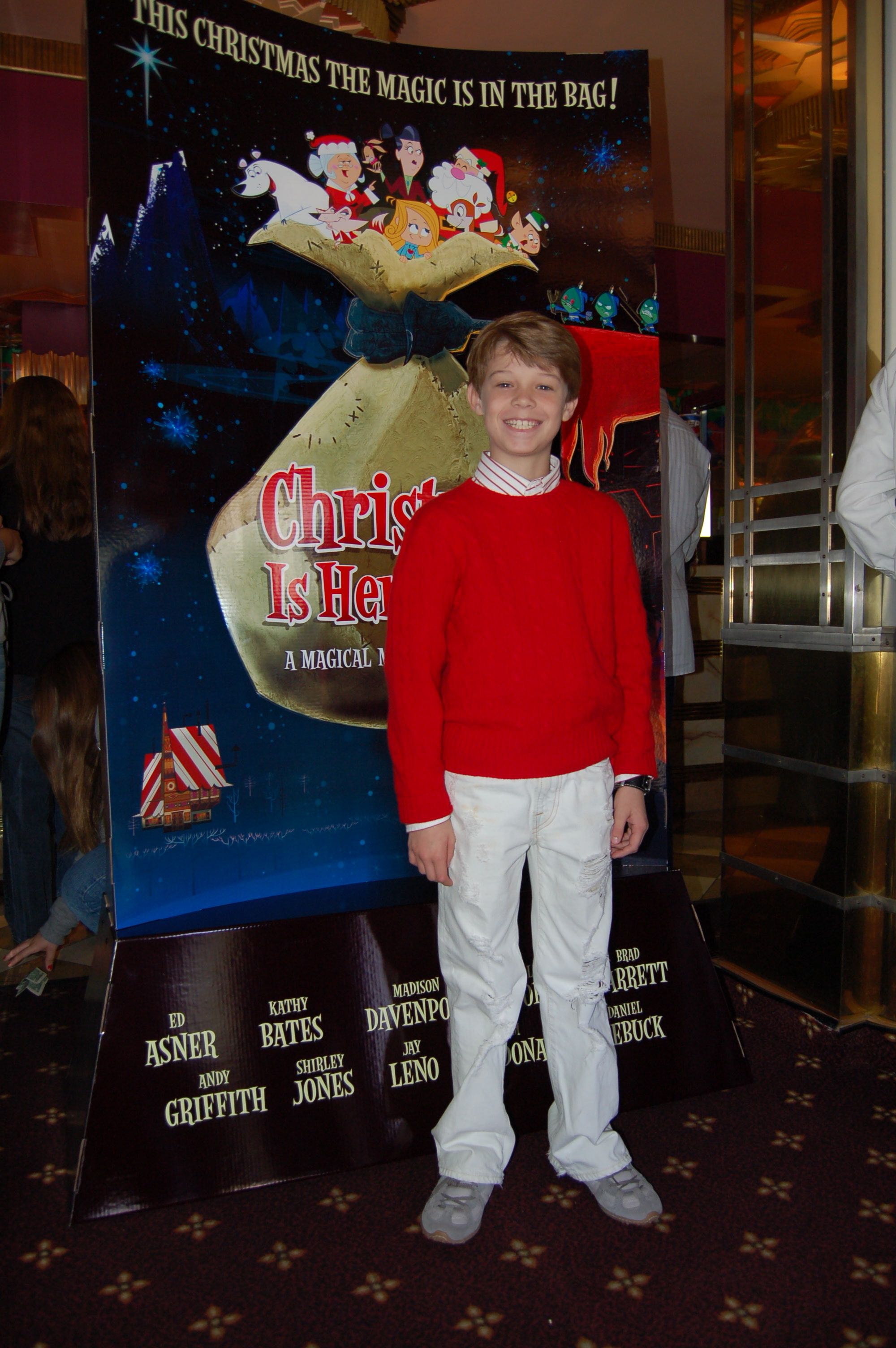Colin Ford (Dart) appears at the World Premier of Christmas is Here Again at the Crest Theatre in Los Angeles.