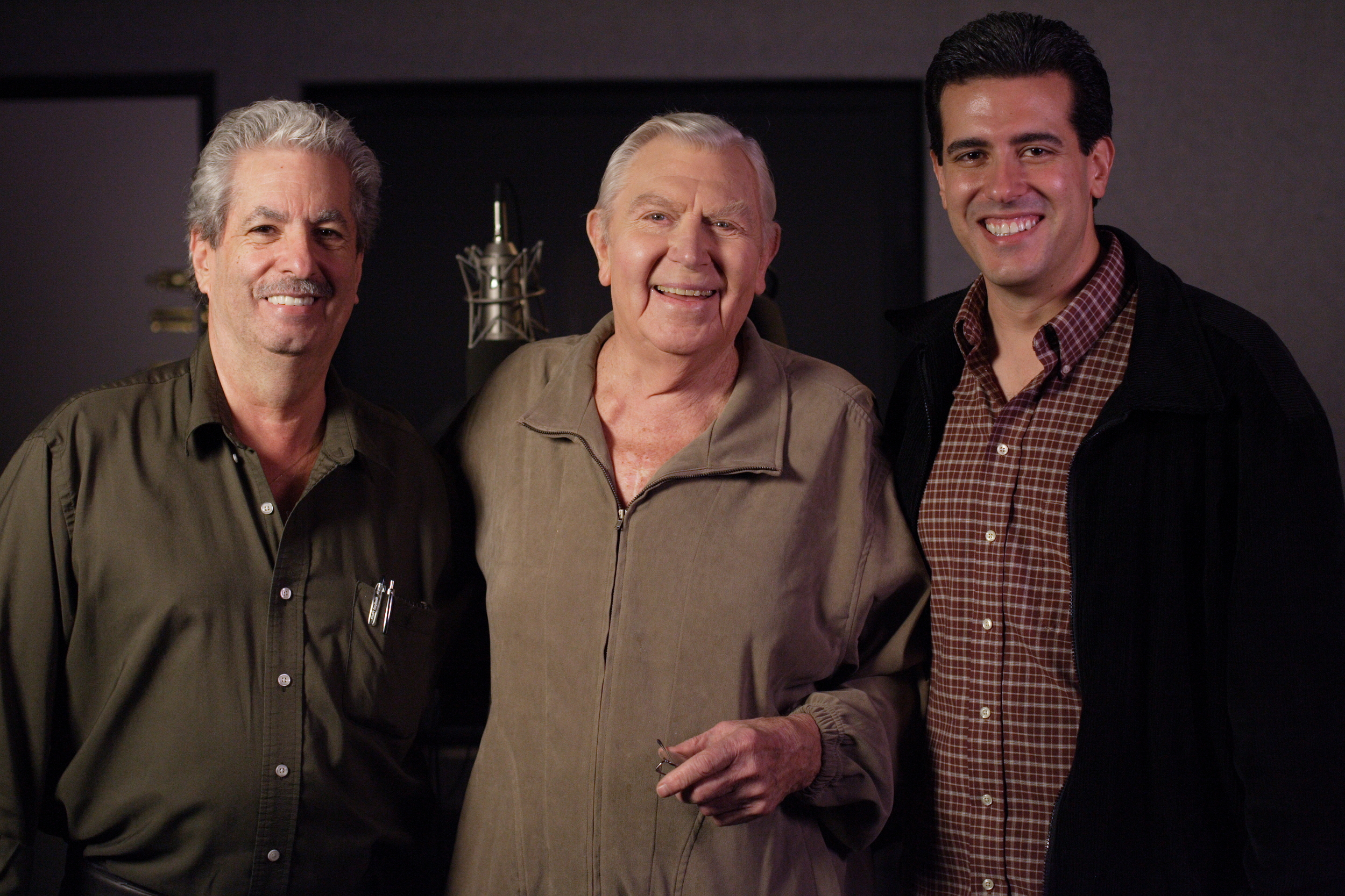 Marco Zappia (Writer), Andy Griffith (Santa) and Robert Zappia (Writer, Director, Producer)