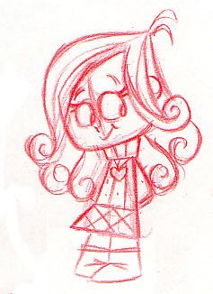 An adorable early sketch of Sophianna who would later be voiced by Madison Davenport