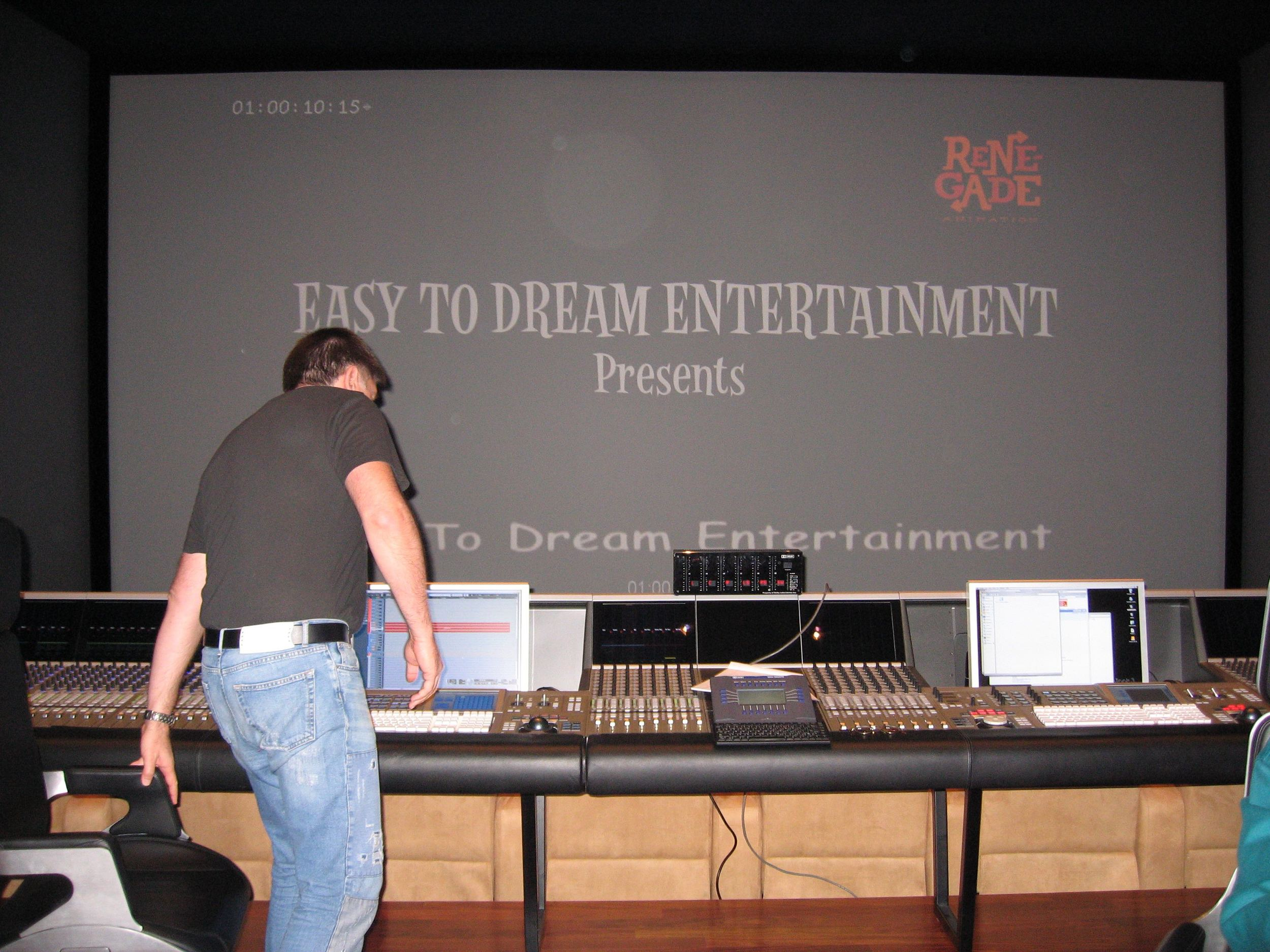 The sound mix underway with mixing engineer/sound supervisor John Ross at 424 Studios in the Hollywood.