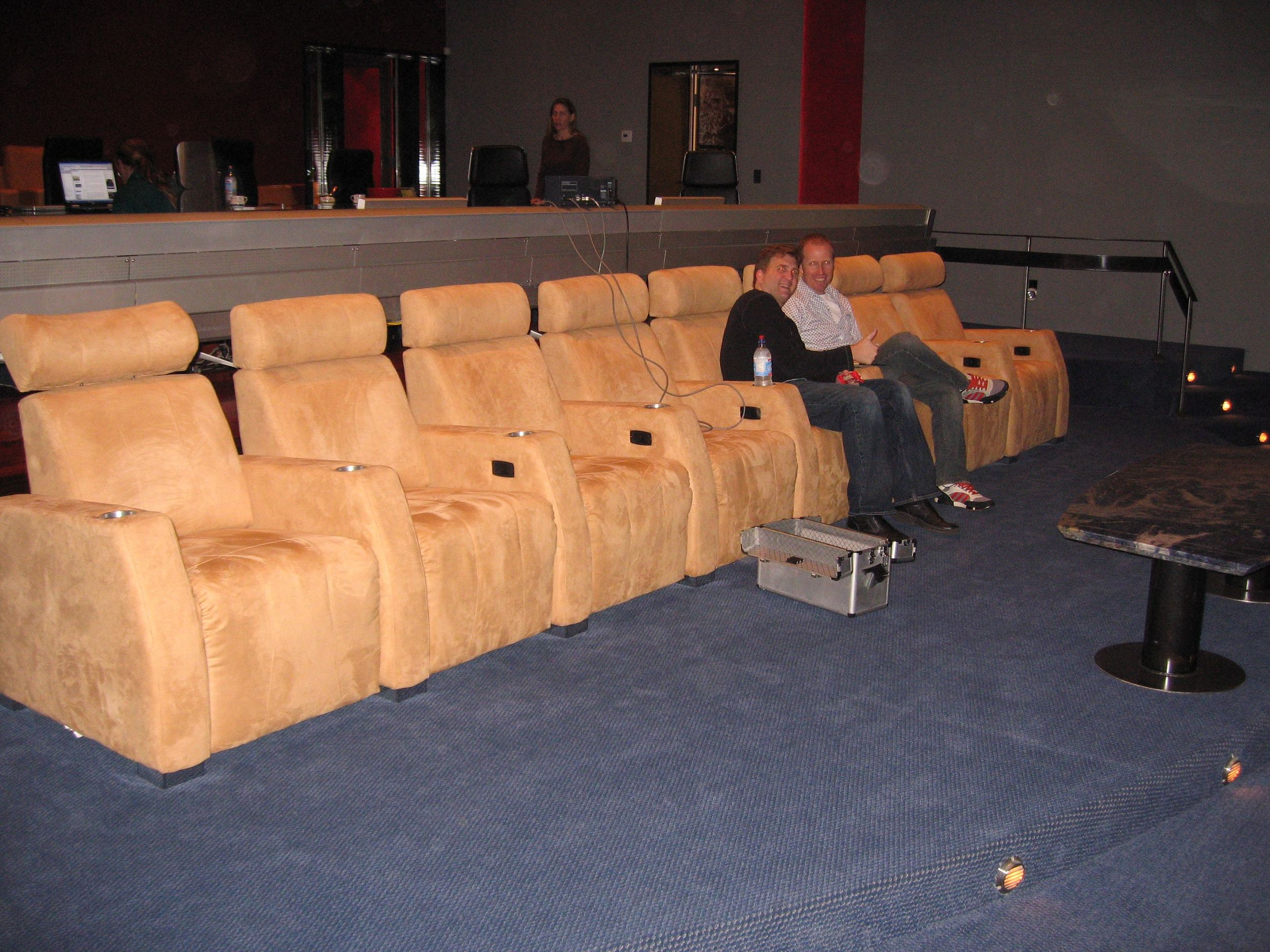 Jim Praytor (Producer) and Dan Roebuck (Paul Rocco) sit back and enjoy the mix at 424 Studios in Hollywood.