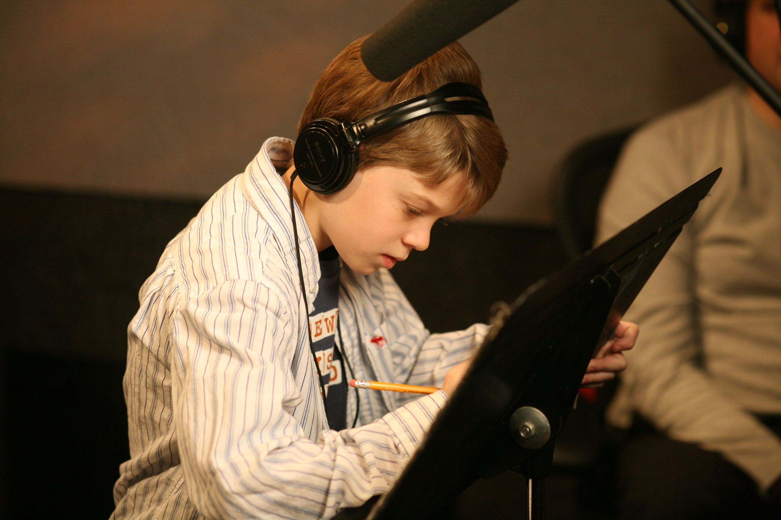 Colin Ford prepares for his read as Dart