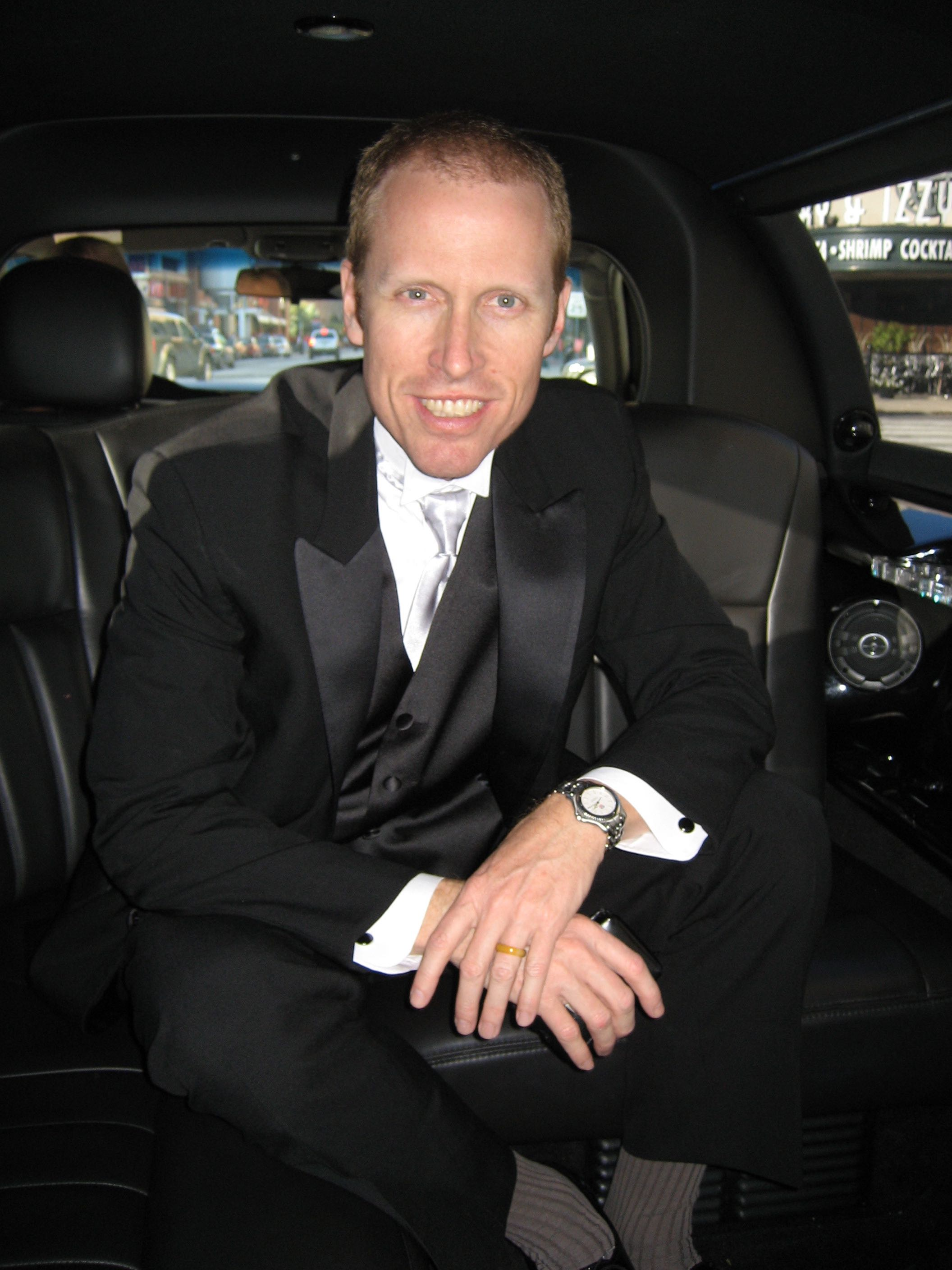 Jim Praytor (producer) on his way to attend the Crystal Heart Awards Gala event at the Heartland Film Festival
