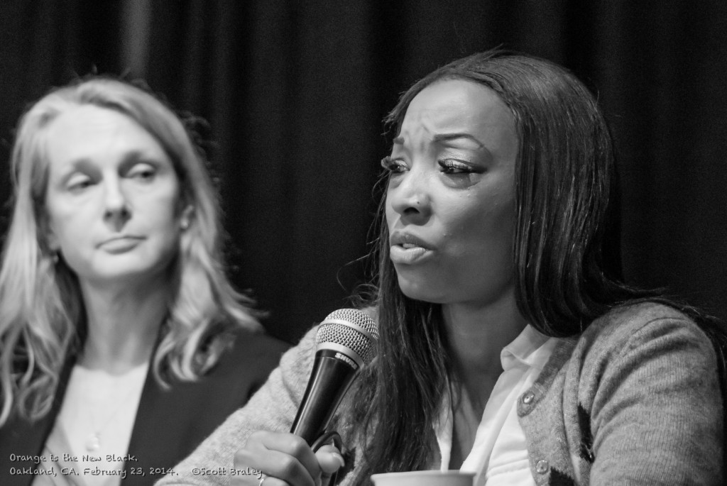 Mianta McKnight, speaking at CCWP Program with Piper Kerman, author of Orange is the New Black