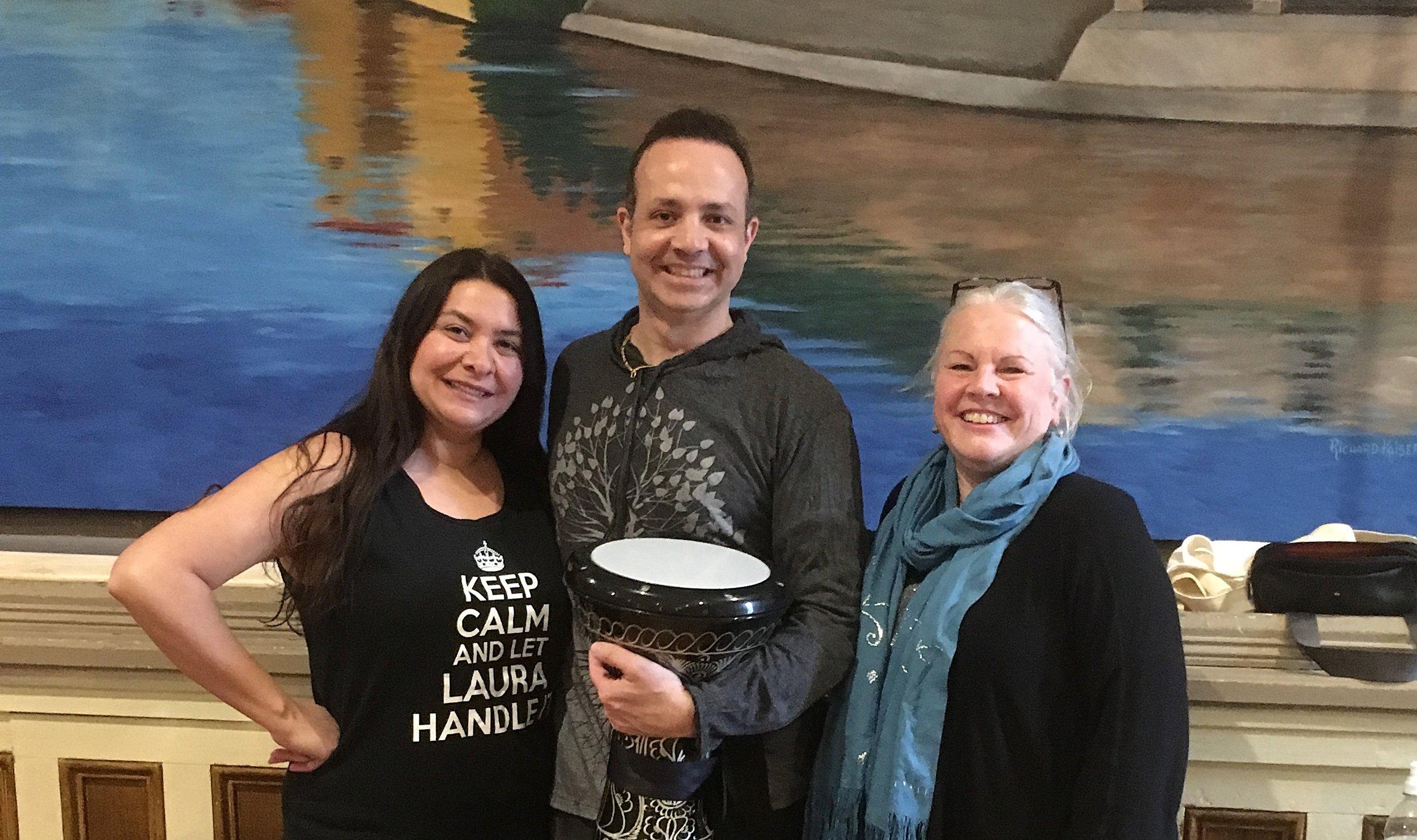 L-R: Lola, Karim, and me. Thanks to Panayiota Bakis Mohieddin for the photo!