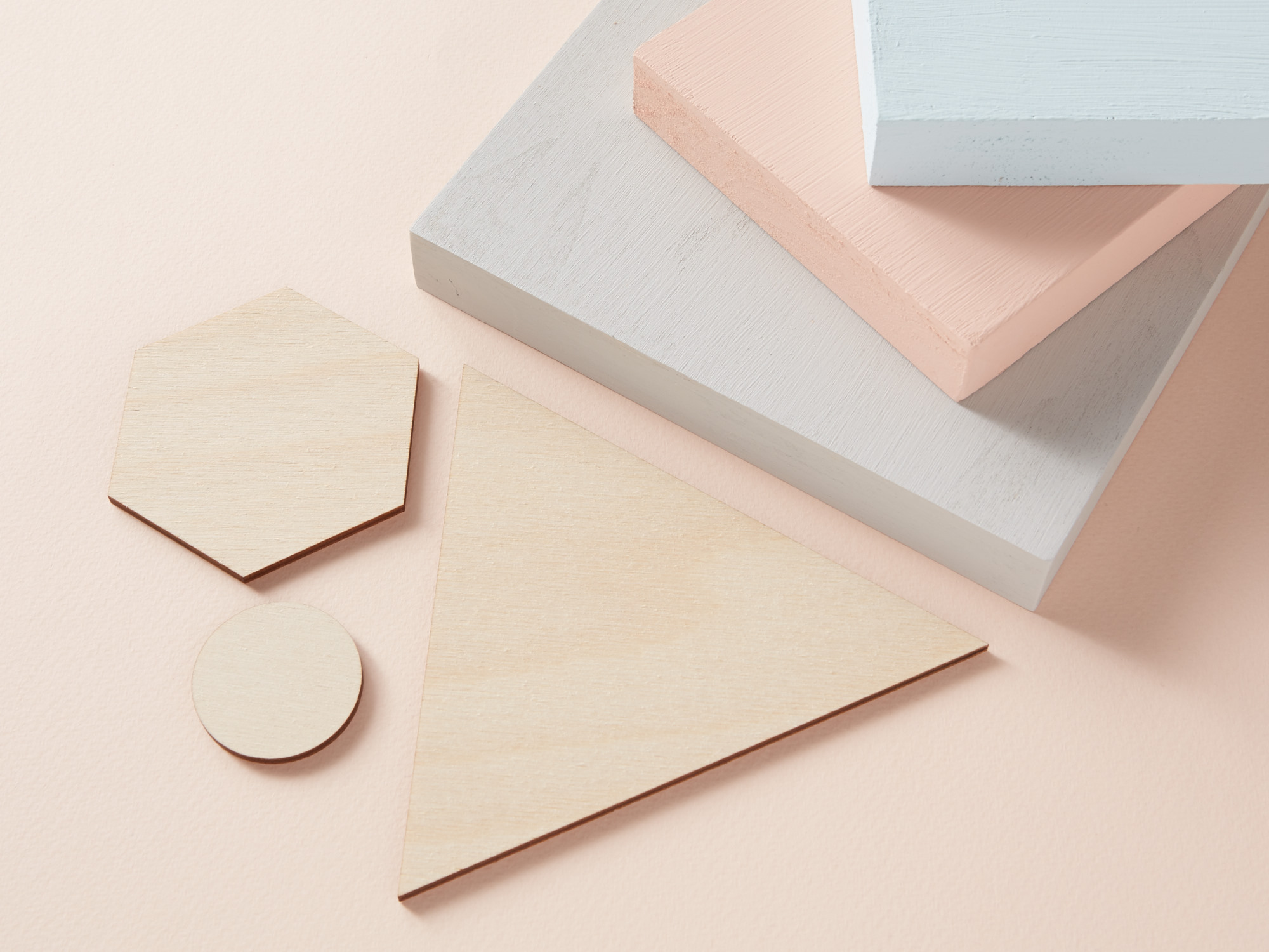 Wooden shapes & blocks - can be painted