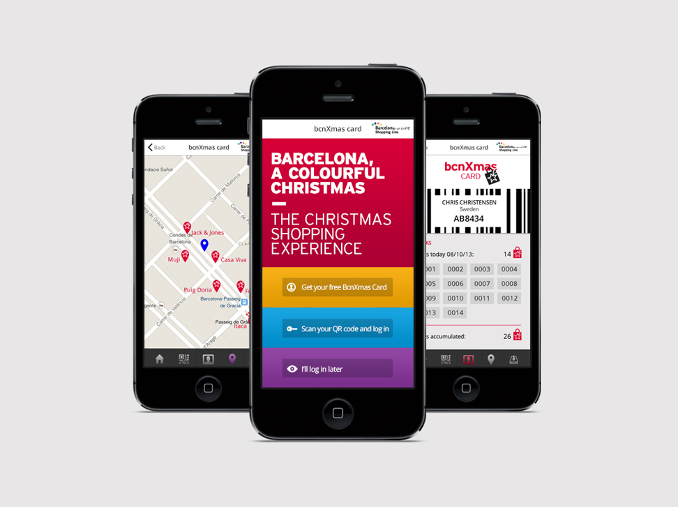 Barcelona Christmas Shopping - #marketing online #web #app #identity #UX/UI