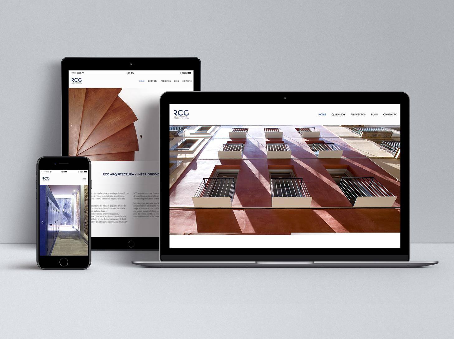 RCG Arquitectura - #web #UX/UI