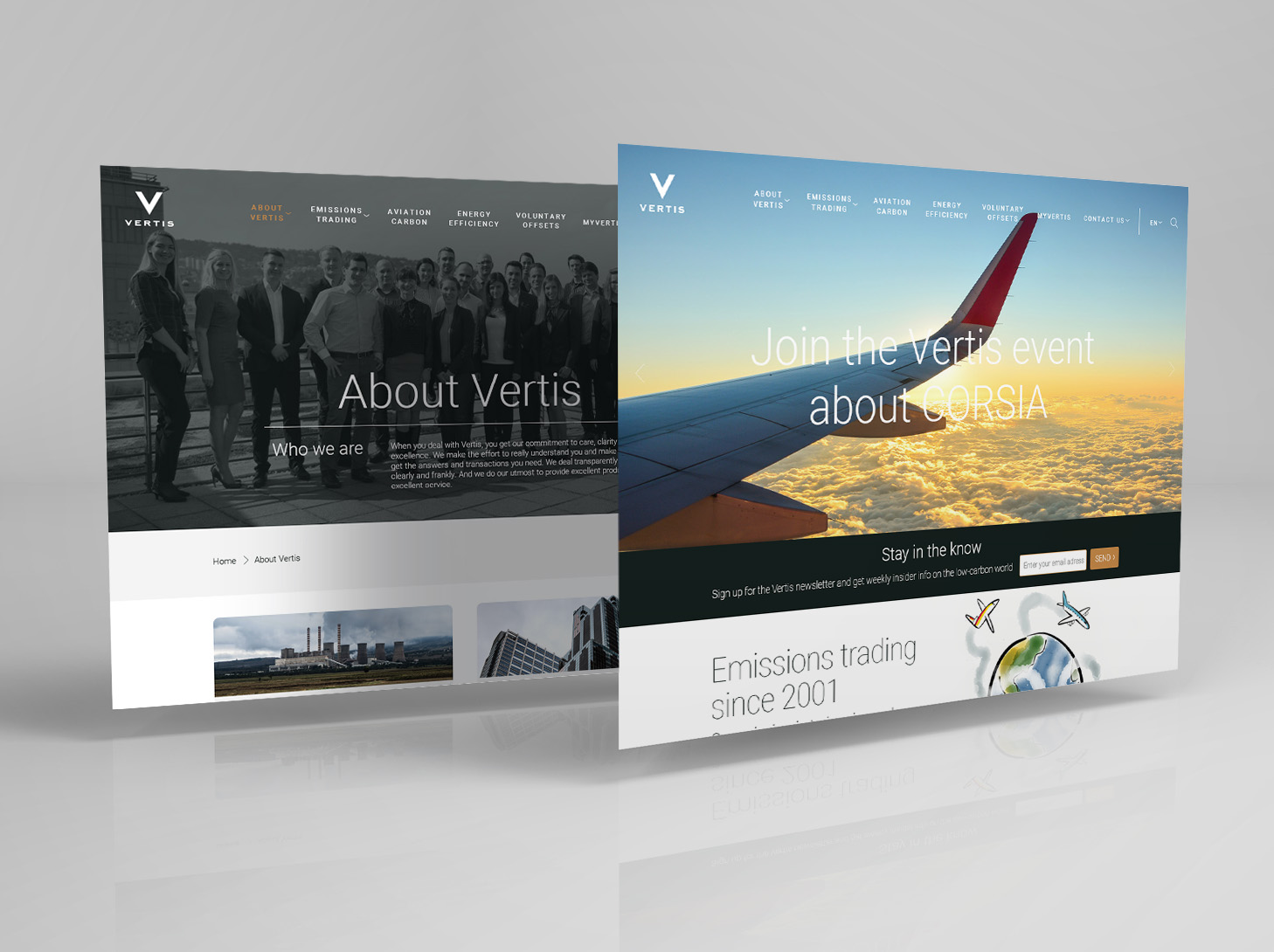 Vertis Environmental Finance - #web #UX/UI