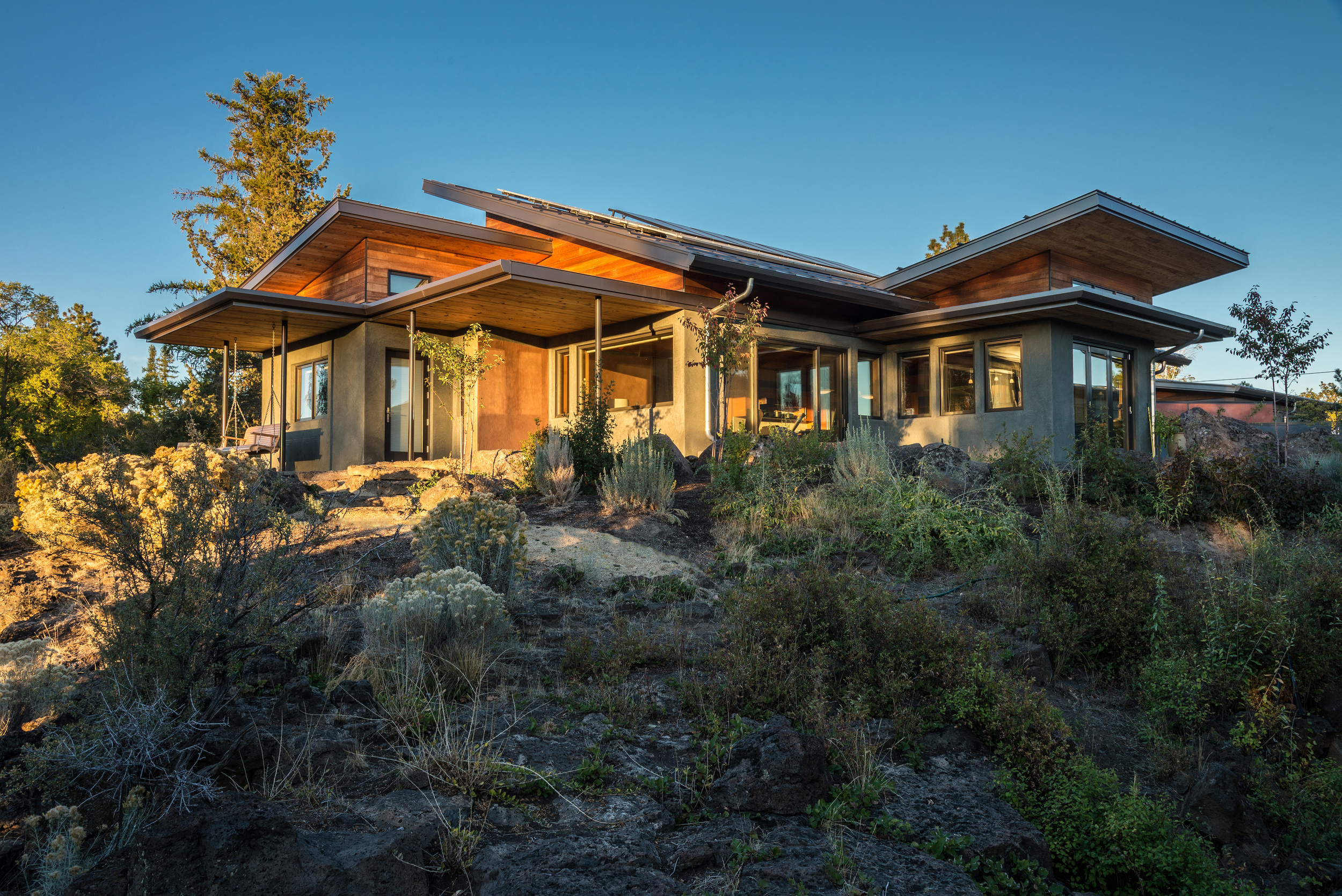 Desert Rain.  A Living Building residence in Bend Oregon.  Click on the image for more information.  Photo by Dorothy Freudenberg