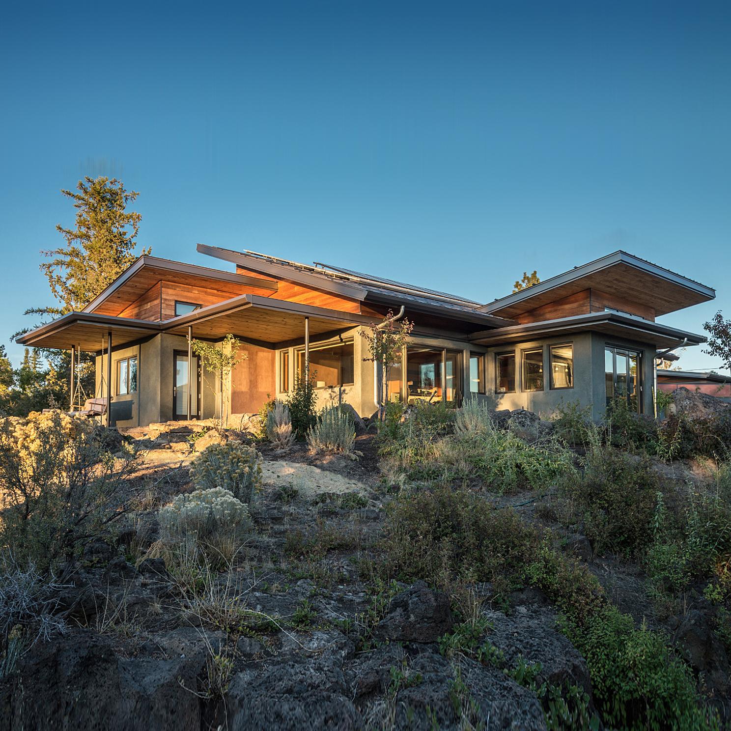 Desert Rain. Living Building Challenge residence in Bend, Oregon. Photo by Dorothy Freudenberg.