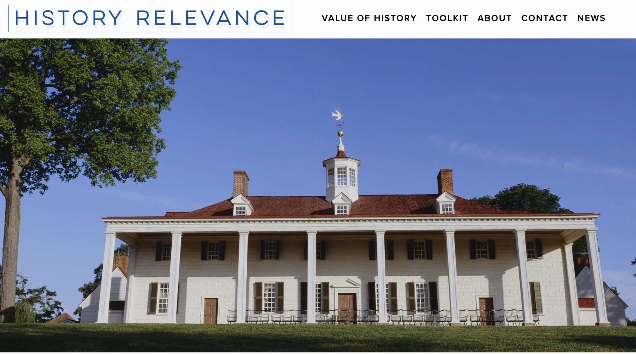 History Relevance Campaign - Website strategy and creationLogo developmentContent creation and management