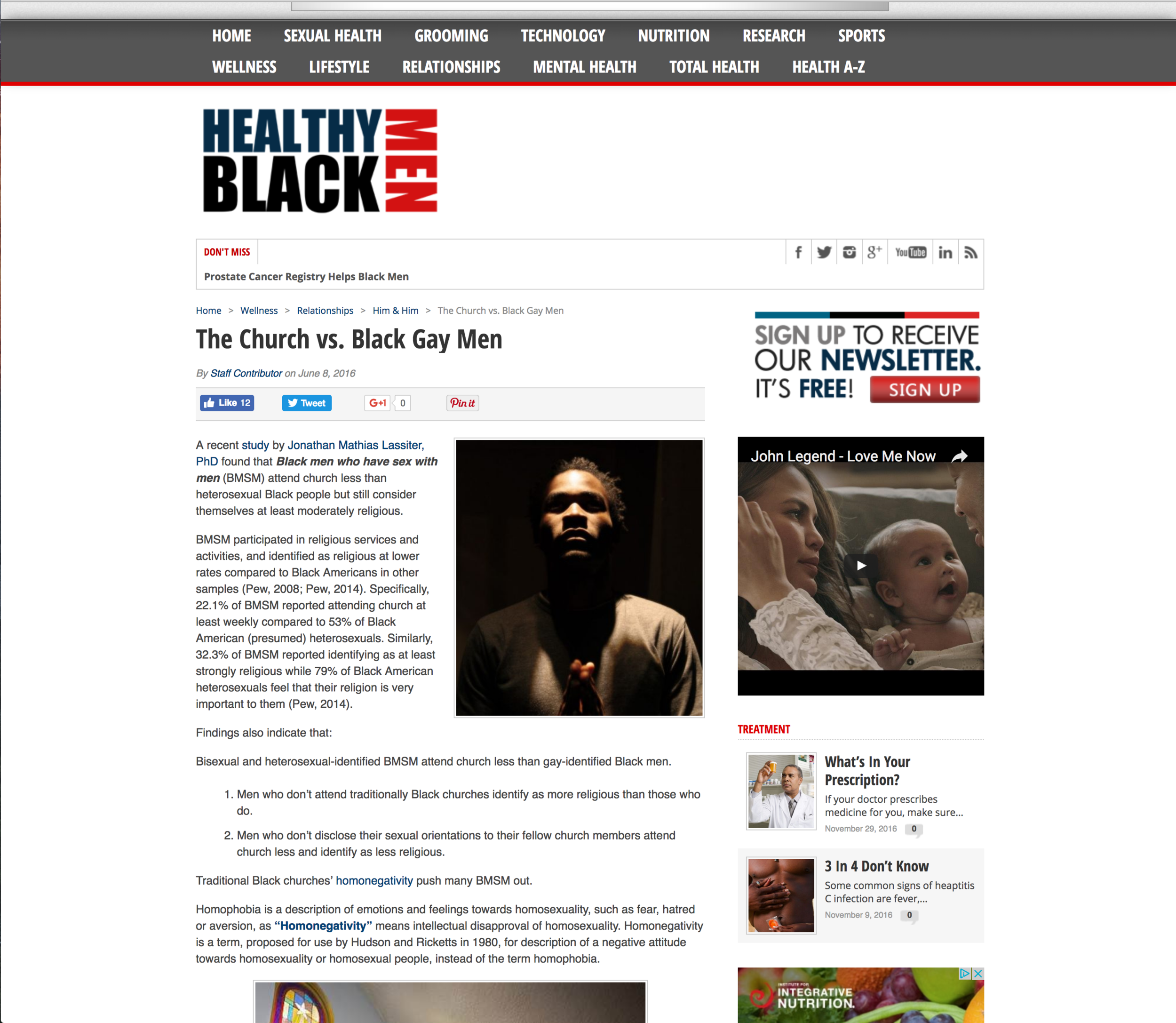 Healthy Black Men Feature