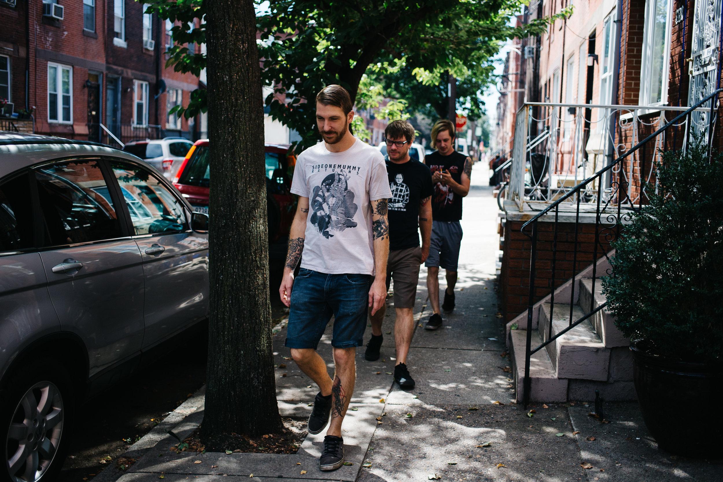 Steve, Ryan and Josh head to breakfast.