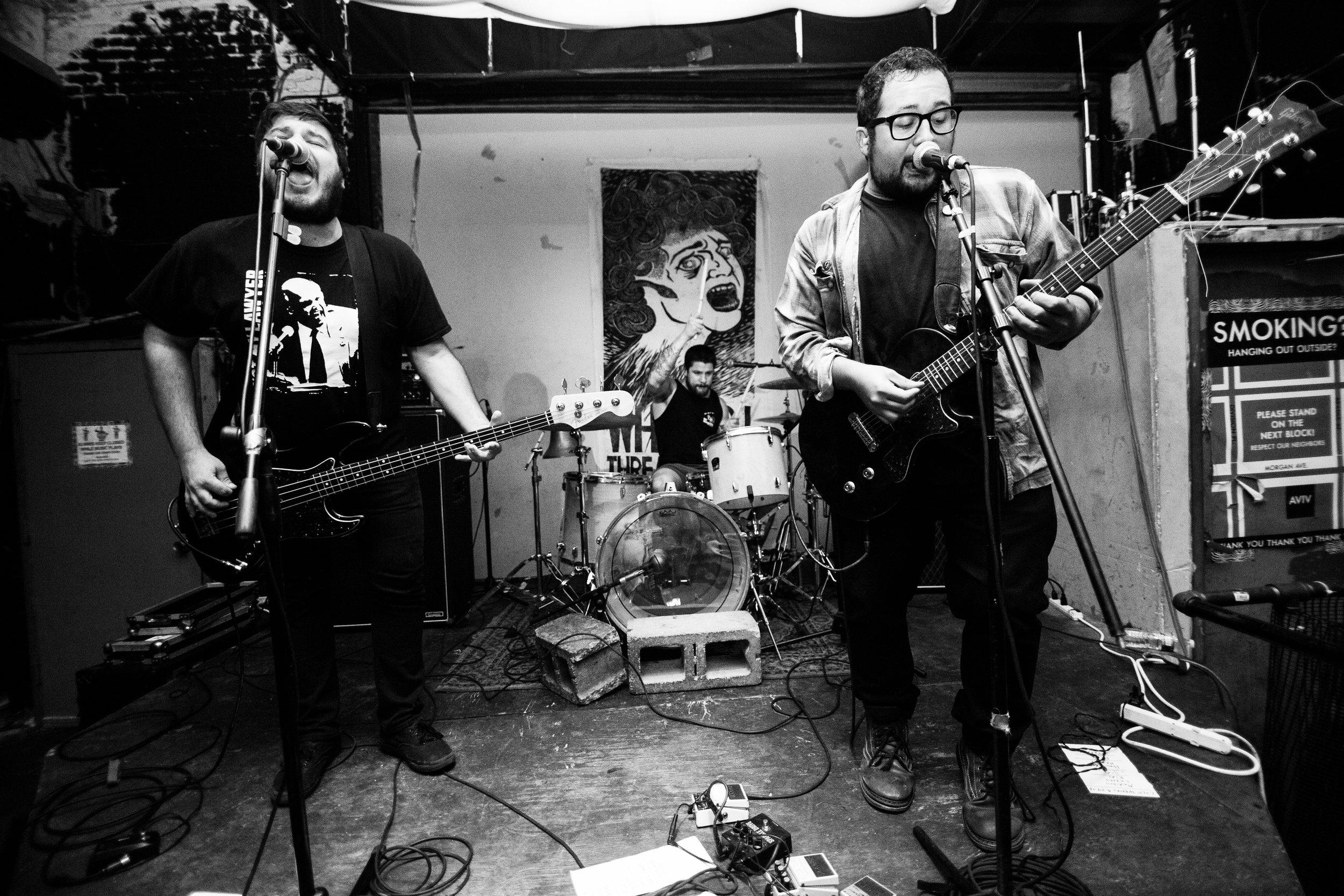 Timeshares perform at AVIV in Brooklyn, New York, September 24,2016.