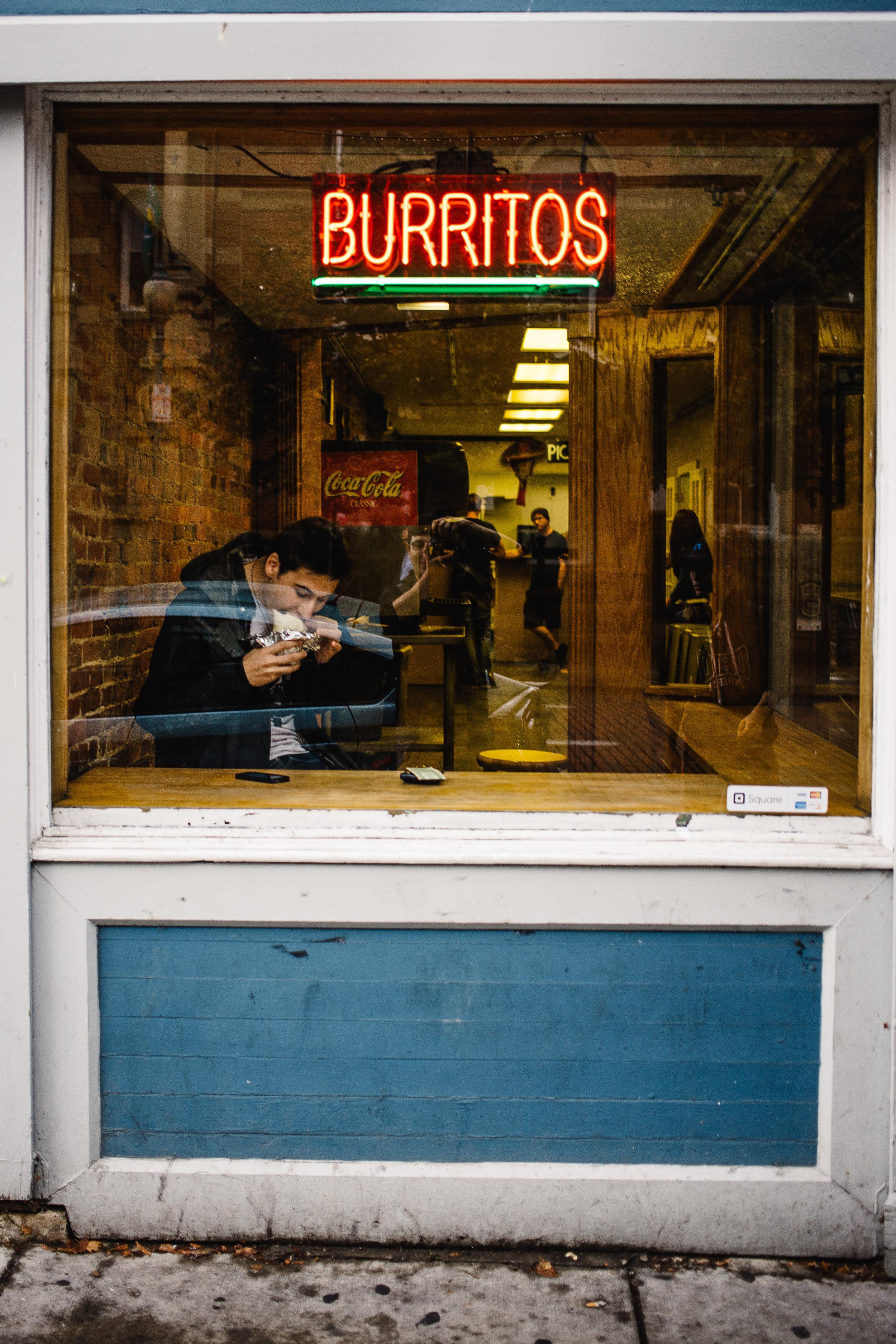 Max and his burrito.