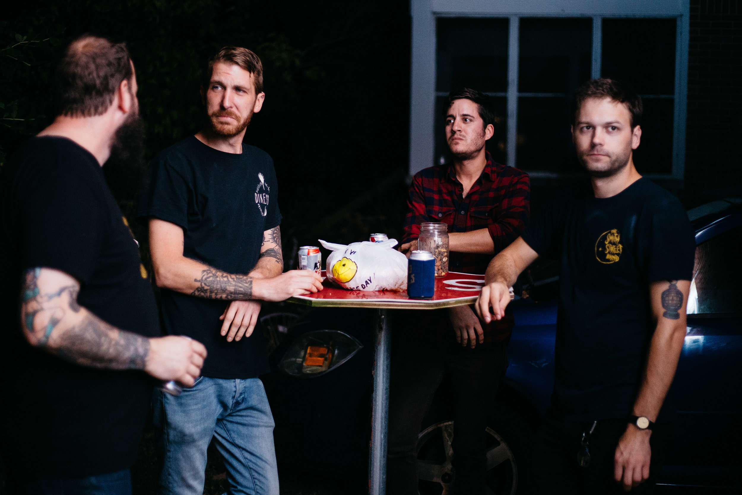 One picture of Signals Midwest and The Gunshy hanging out quickly turned in to an impromptu portrait session.