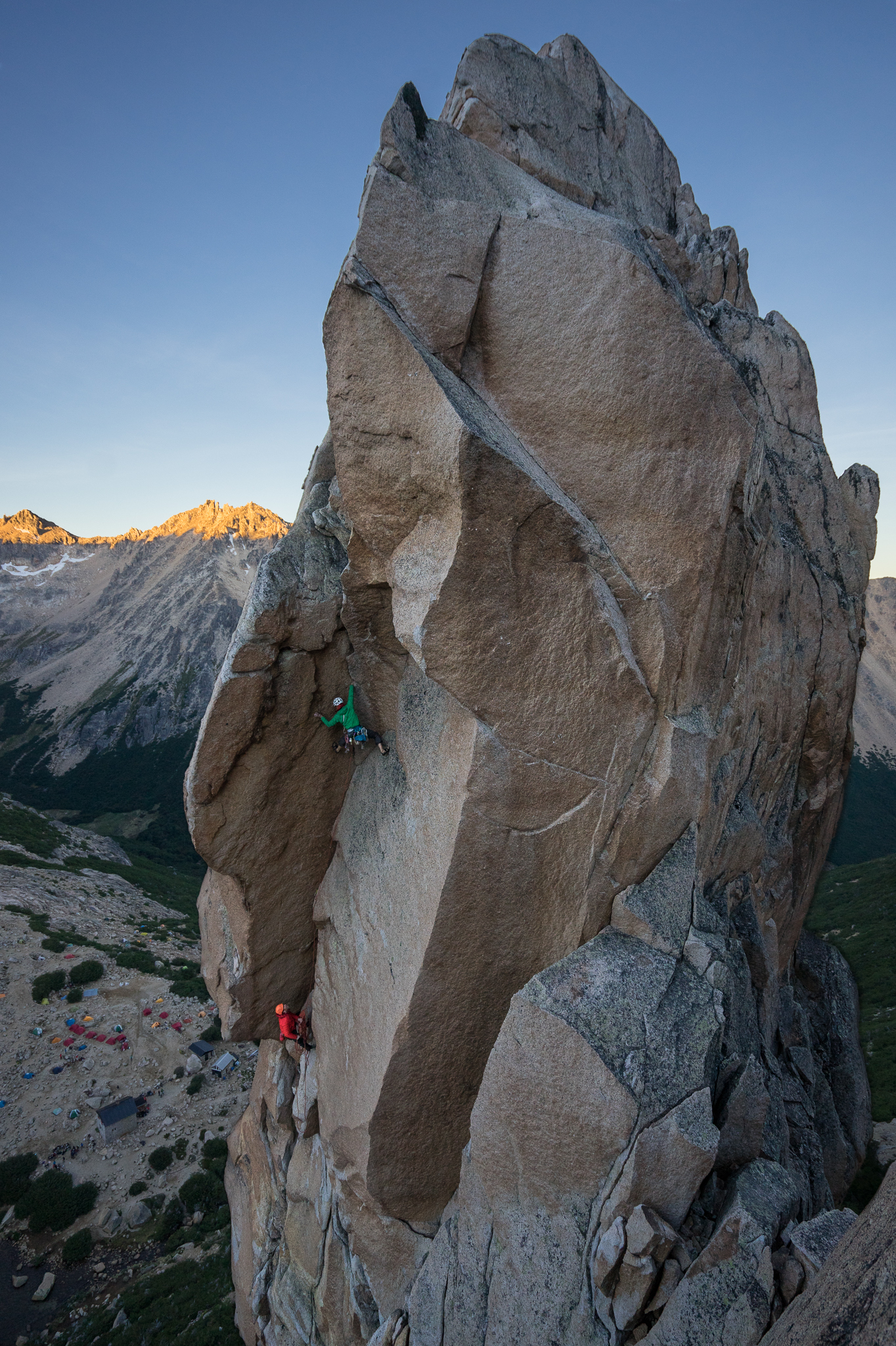 The trip report wouldn't be complete without John's stunning photo of Peter and Emmett on Lost Fingers (5.10+)