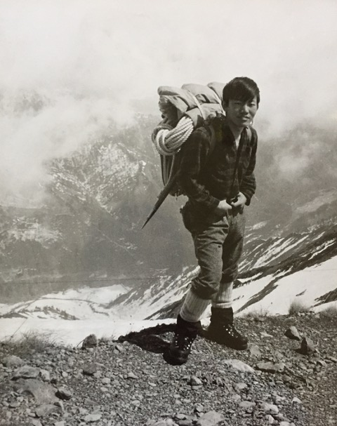 Descending on the ridge from Mt Shirouma (~10,000ft) after 2 bivouacs.