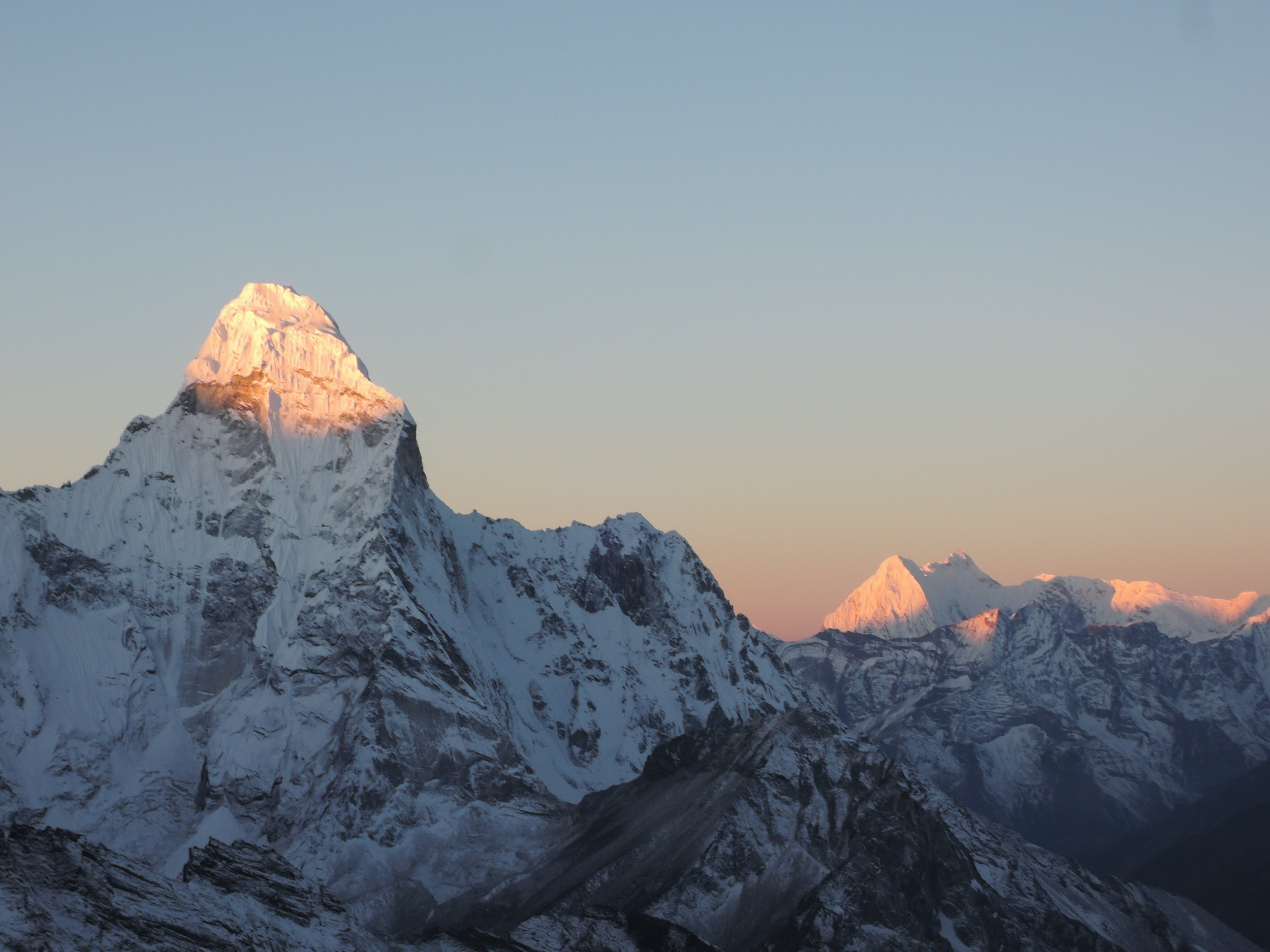 Ama Dablam in alpenglow