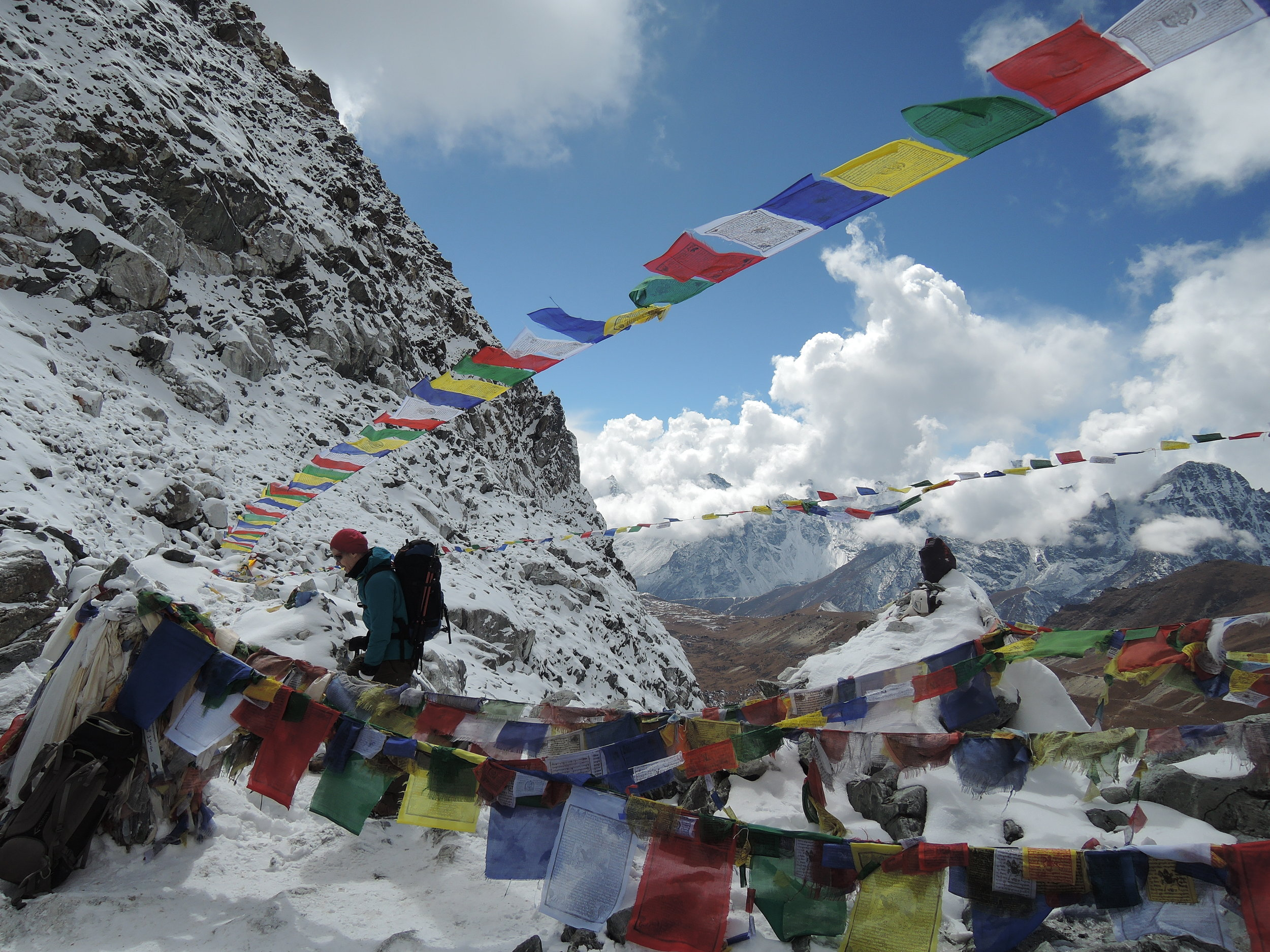 Cho La Pass with Prayer Flags