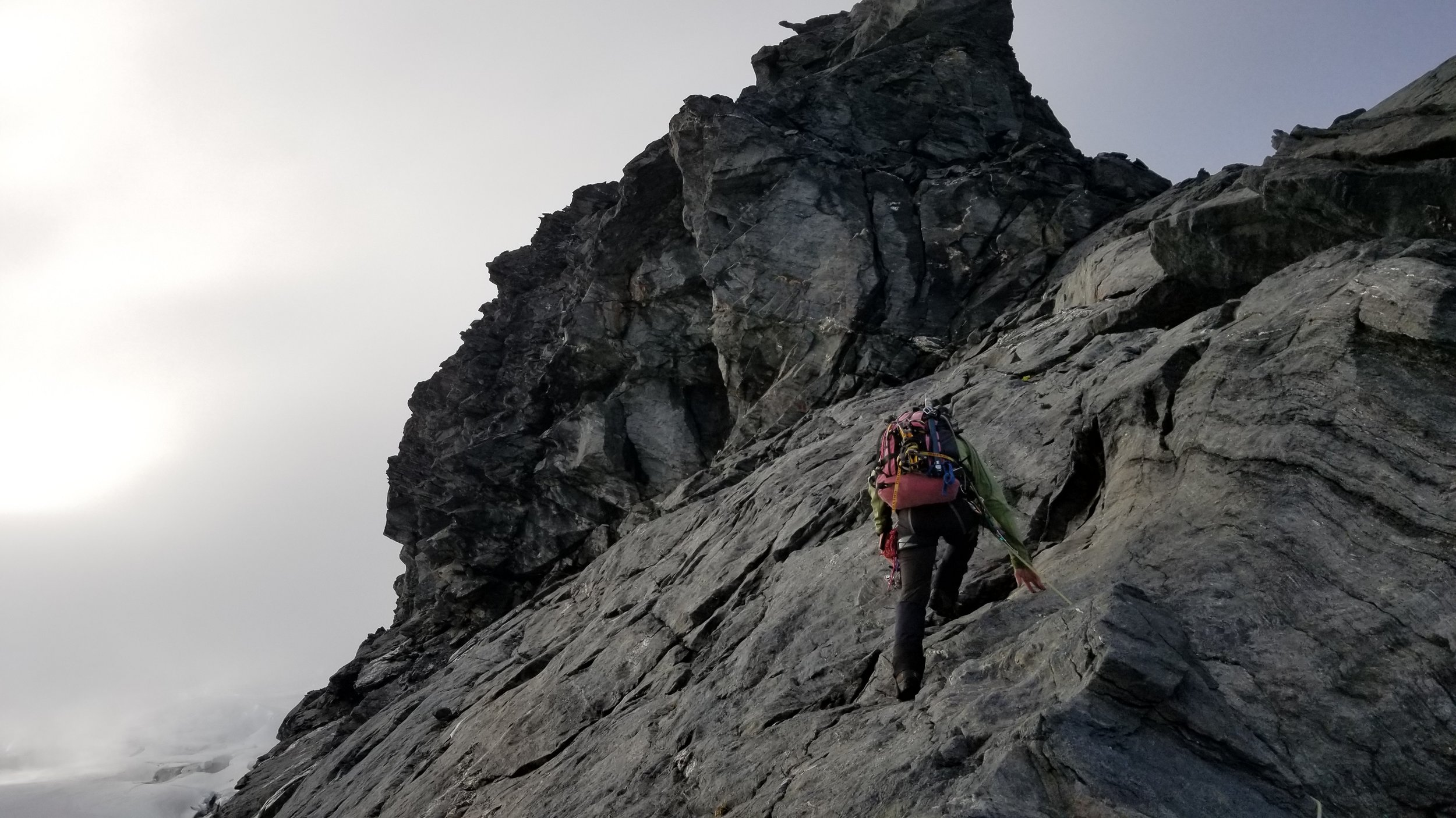 Approaching the buttress