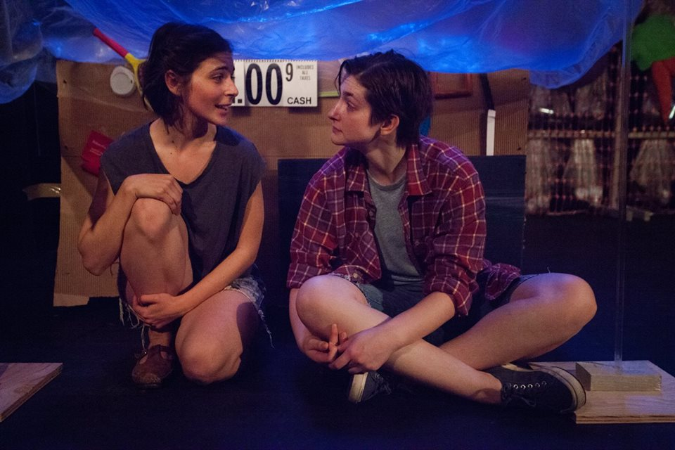 Andrea Tzvetkov and Ellenor Riley-Condit in  Hot Belly  at The Tank, NYC. Photo Credit Hanna Meltz