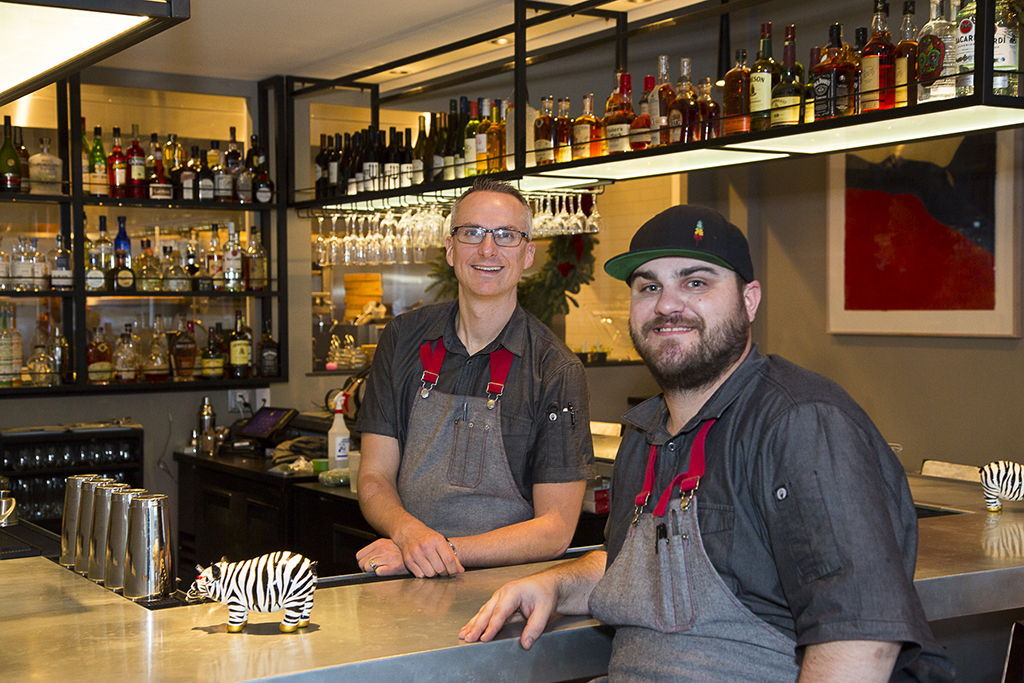 Chefs Erik Romme and Andrew Mitchell