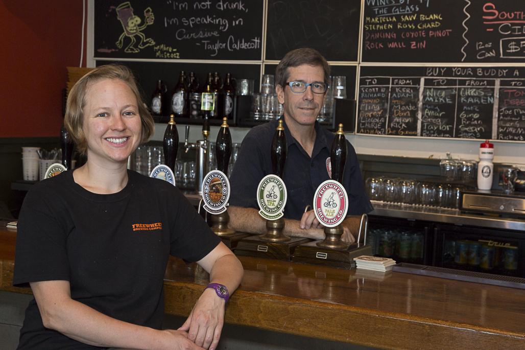 Founder Malcom McGinnis and brewer Alisha Blue.