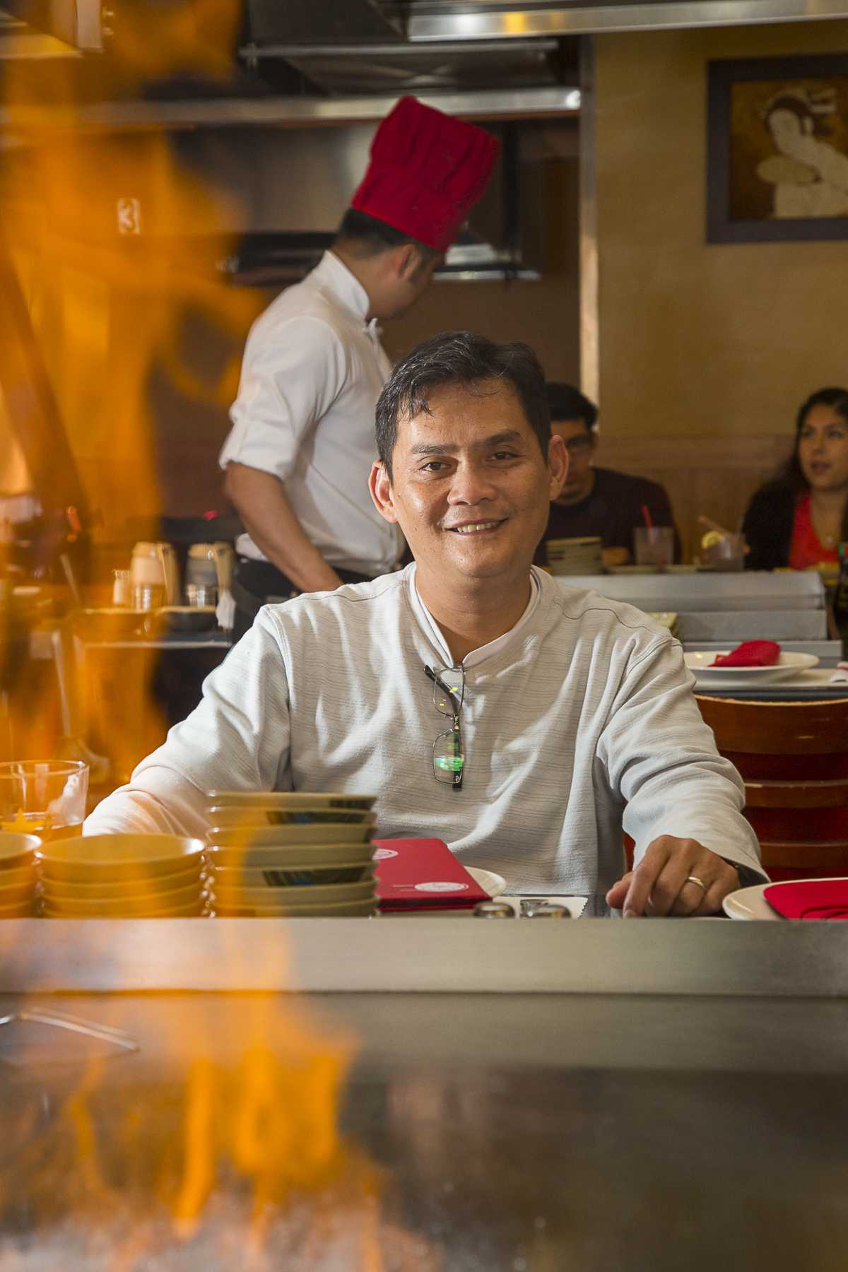 Tim Vu, part owner and original chef at Sakura Teppanyaki & Sushi