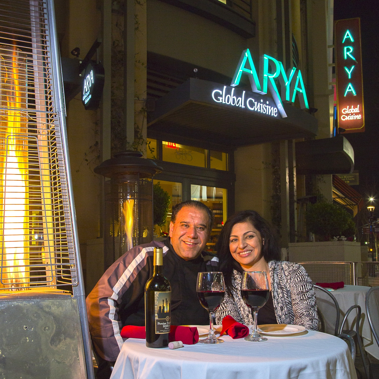 Michael and Fera Hashemi, the husband and wife duo behind Arya