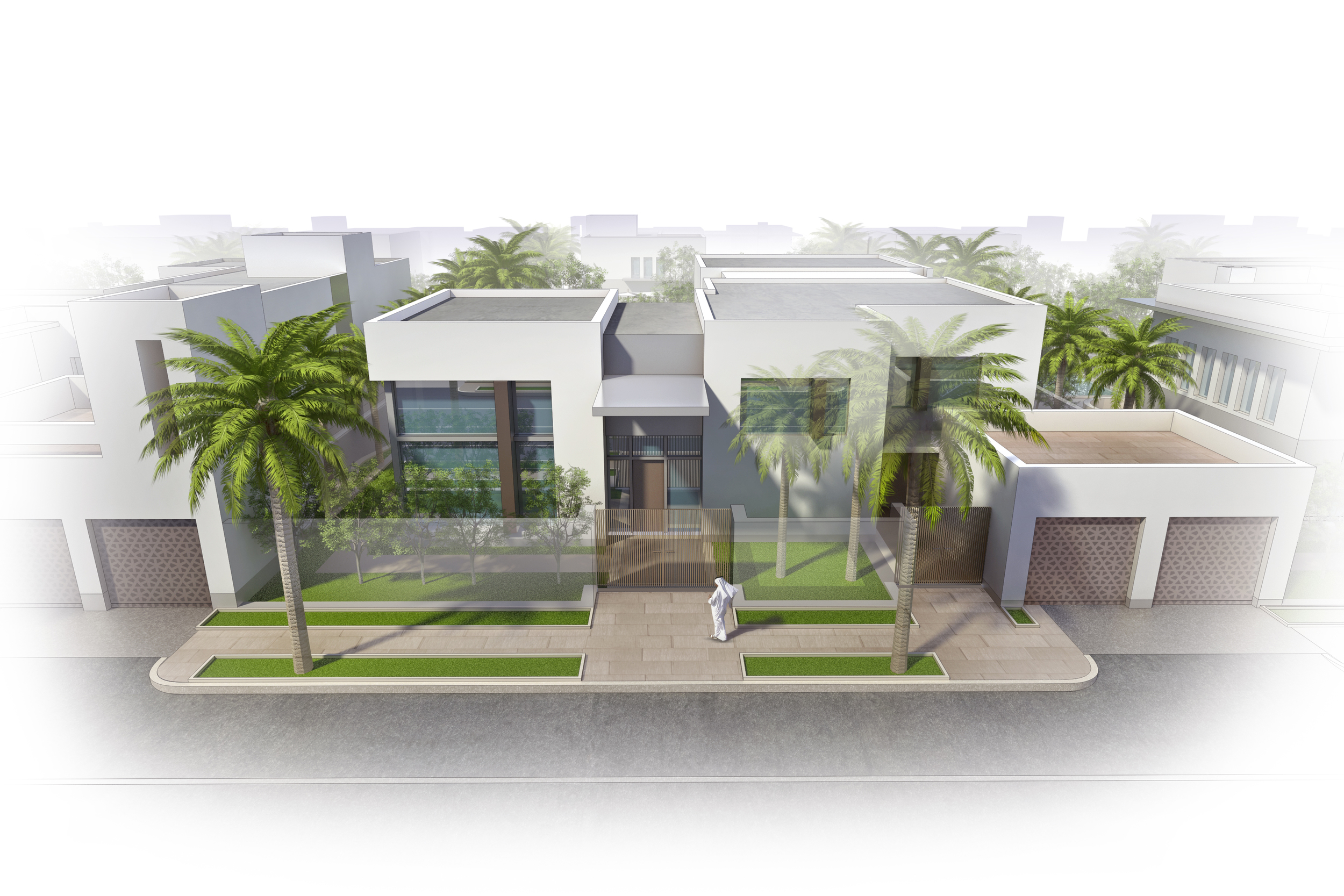 HOUSING CONCEPT  UAE |  Image courtesy of HOK