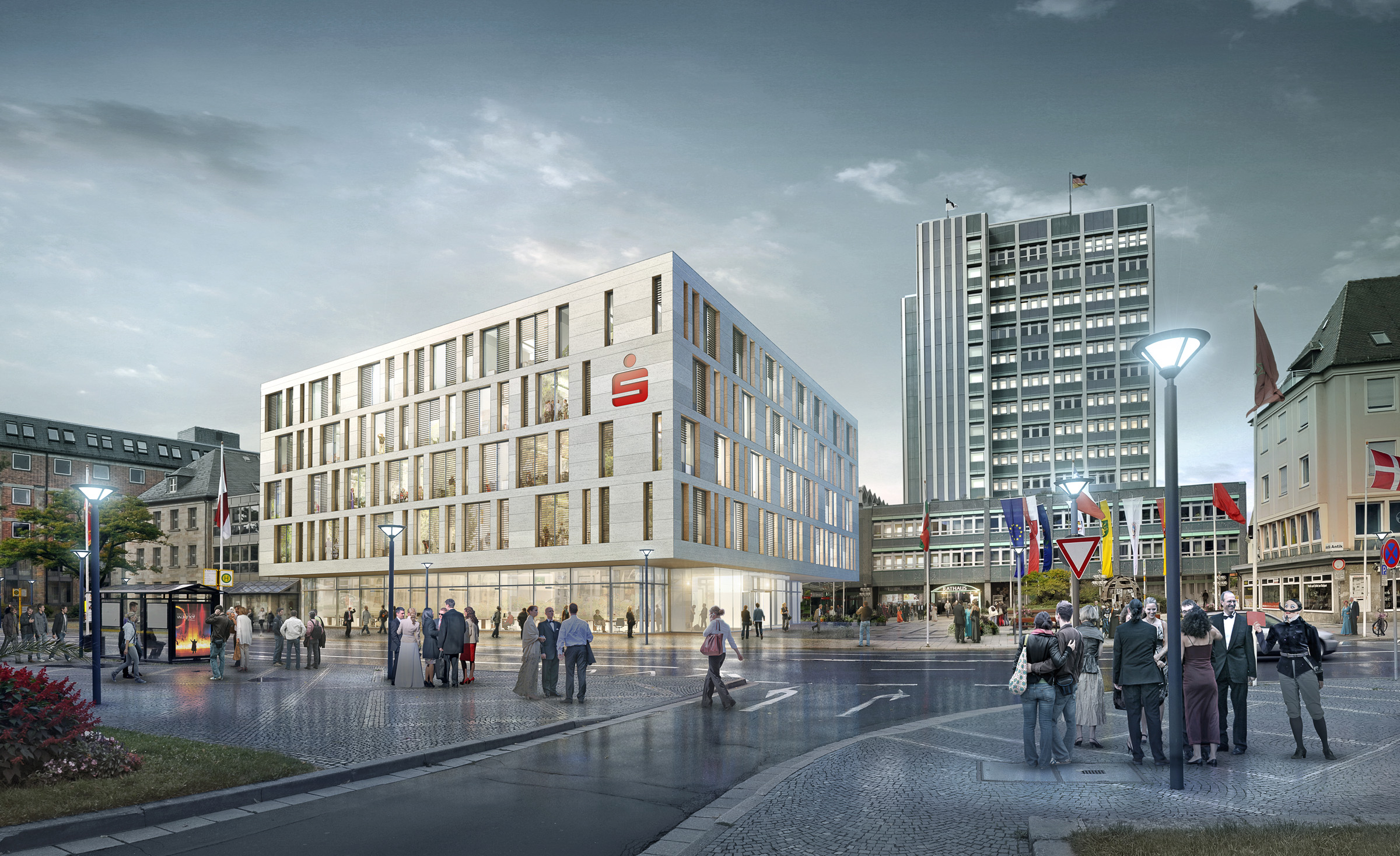 SPARKASSE BANK CONCEPT  Bayreuth, Germany |  Image courtesy of wöhr heugenhauser architekten