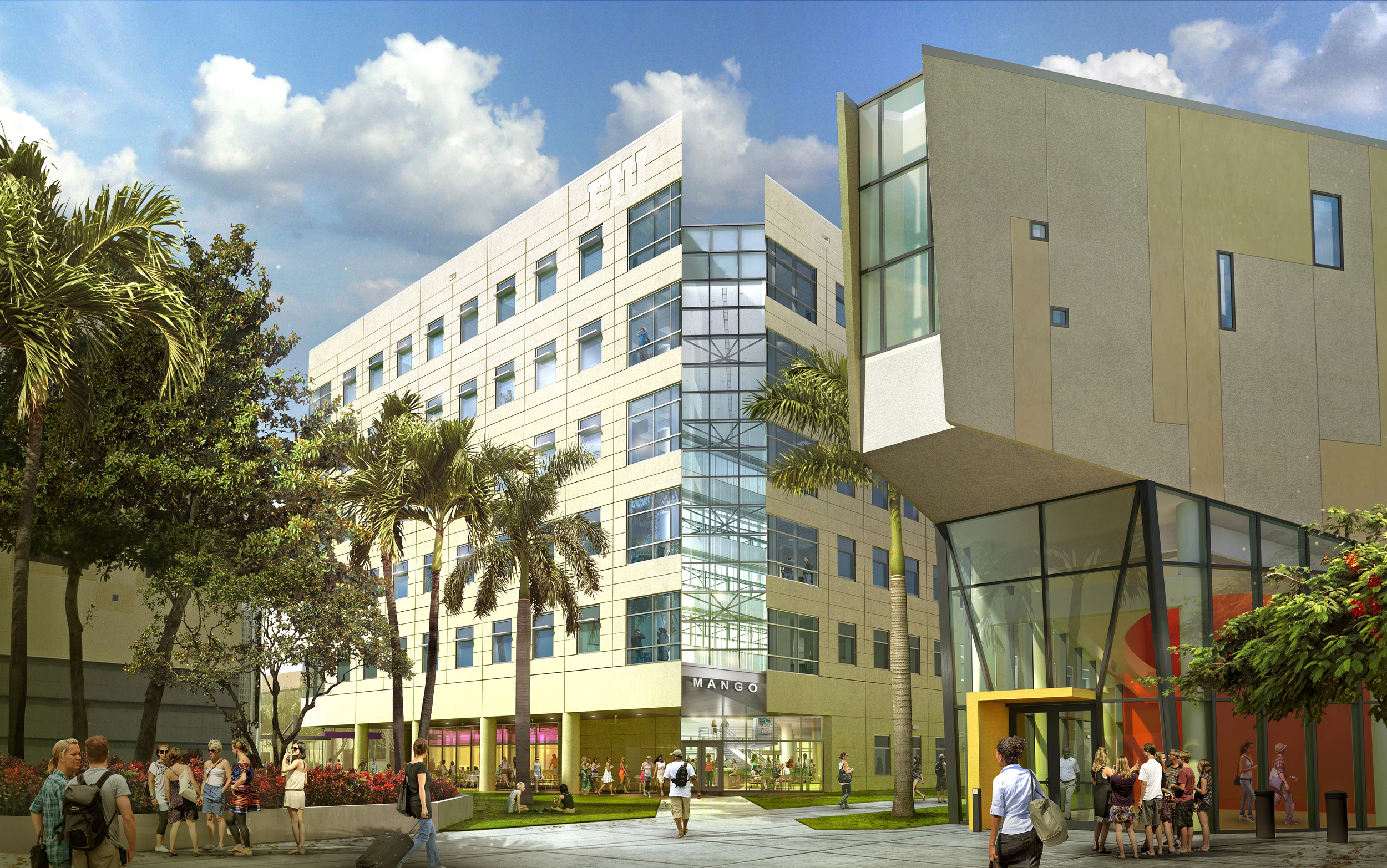 FIU MIXED USE BUILDING  Miami, FL |  Image courtesy of HOK Tampa