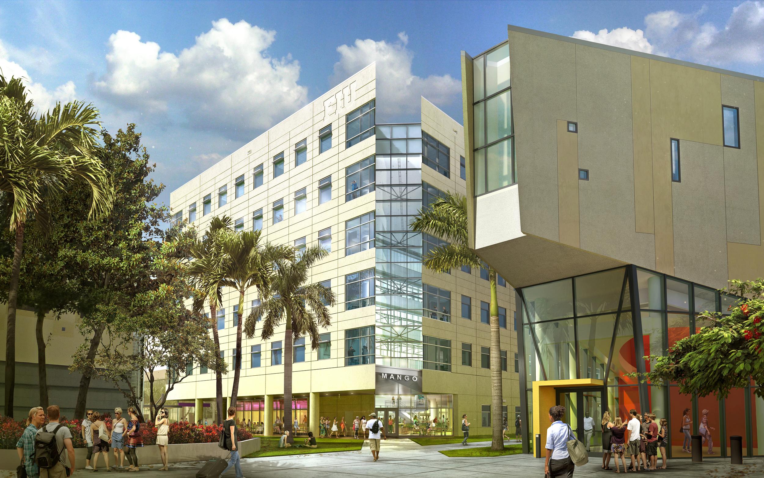 FIU MIXED USE BUILDING  Miami, FL | Image courtesy of HOK Tampa