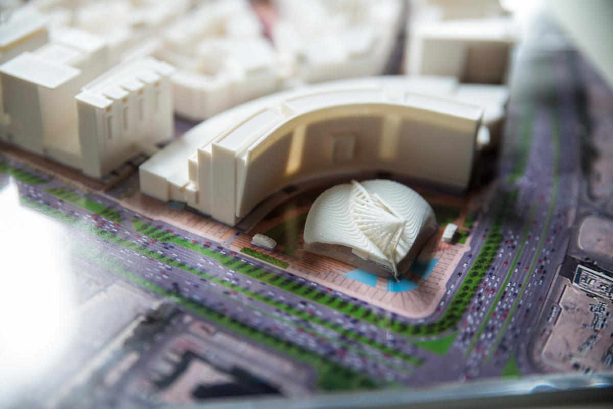 Al MATAR MASSING CONCEPT  Doha, Qatar | Image courtesy of HOK DC